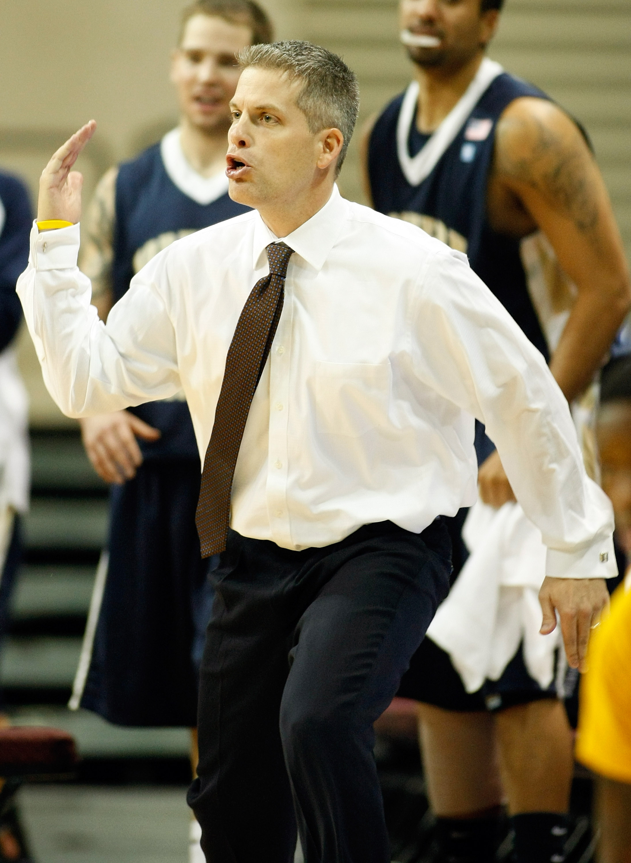 LAS VEGAS - NOVEMBER 27:  Head coach B.J. Hill of the Northern Colorado Bears gestures to his players as they take on the Bethune-Cookman Wildcats during the fourth round of the Las Vegas Invitational at The Orleans Arena November 27, 2010 in Las Vegas, N