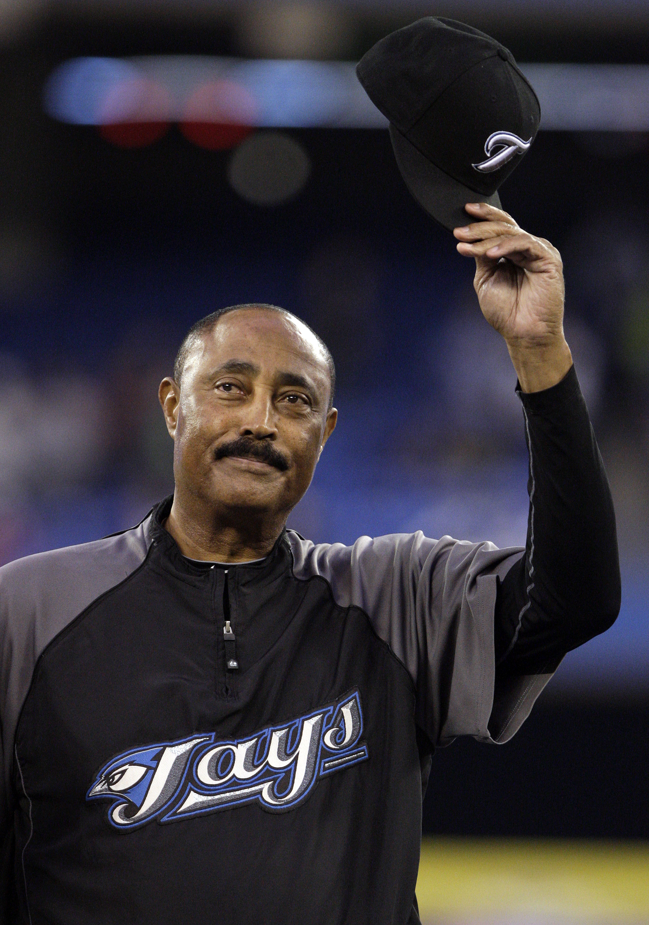 TORONTO, ON - SEPTEMBER 29: Cito Gaston tips his hat during a pre-game ceremony for retiring Manager Cito Gaston of the Toronto Blue Jays as they play the New York Yankees during a MLB game at the Rogers Centre September 29, 2010 in Toronto, Ontario, Cana