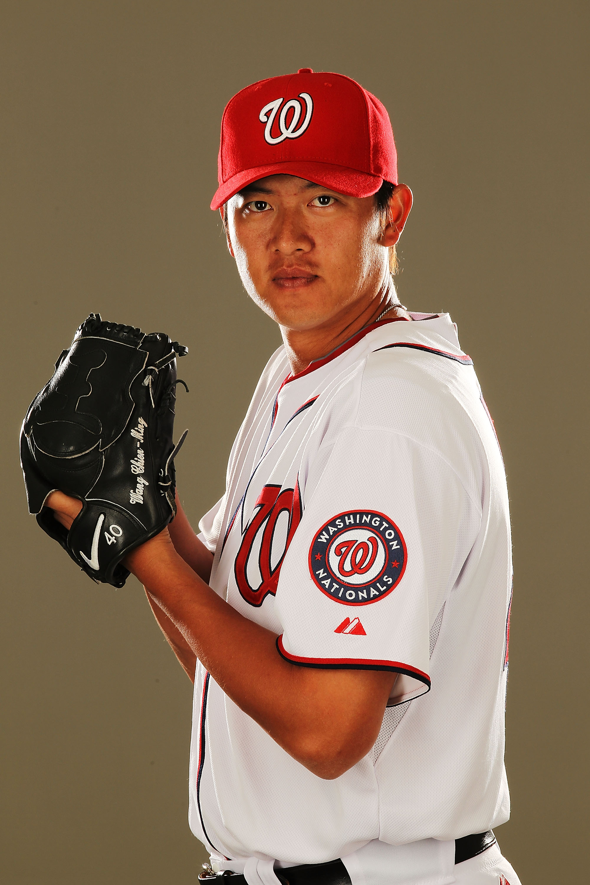 VIERA, FL - FEBRUARY 25:  Chien-Ming Wang #40 of the Washington Nationals poses for a portrait during Spring Training Photo Day at Space Coast Stadium on February 25, 2011 in Viera, Florida.  (Photo by Al Bello/Getty Images)