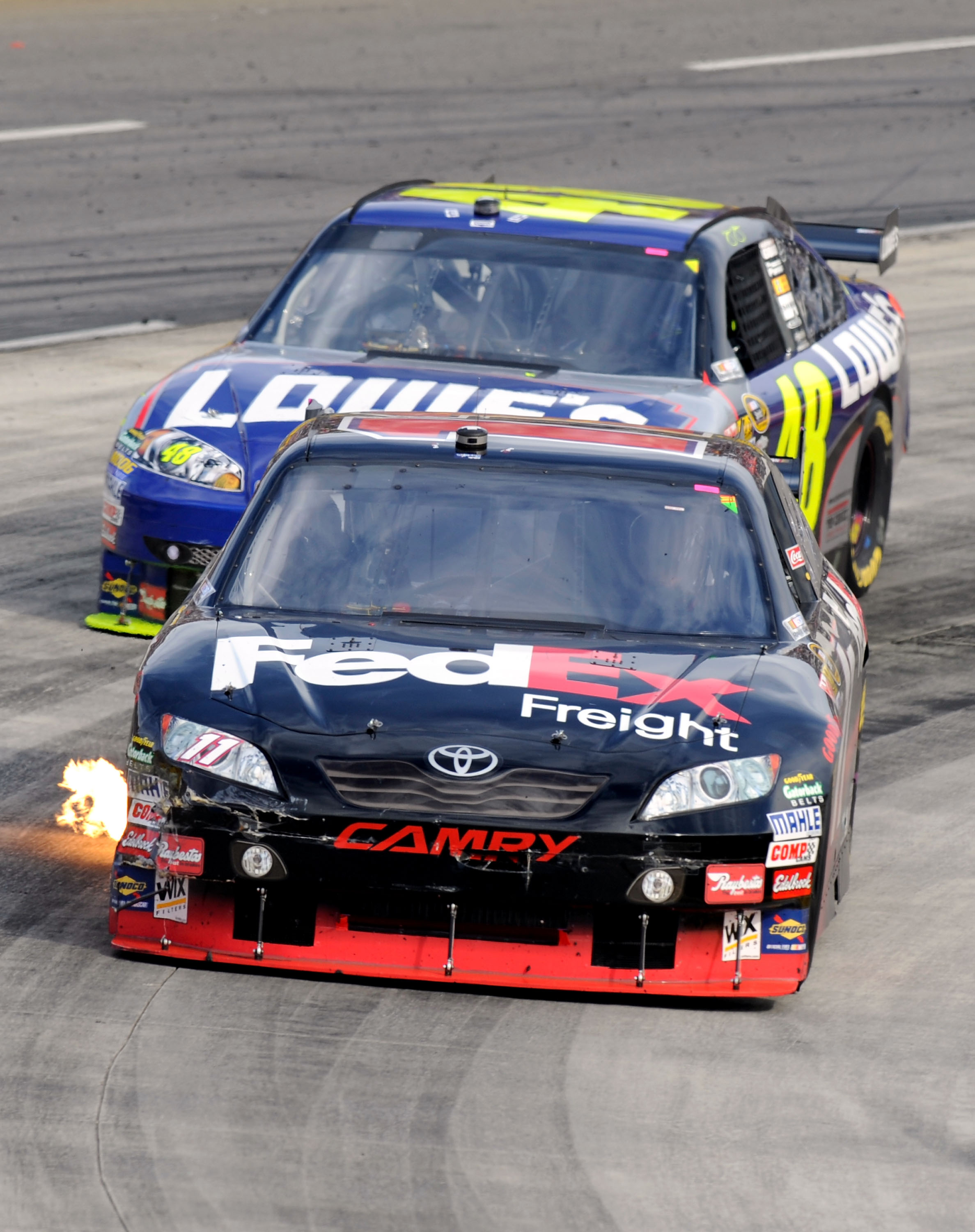 Hamlin couldn't hold off Johnson in the closing laps.