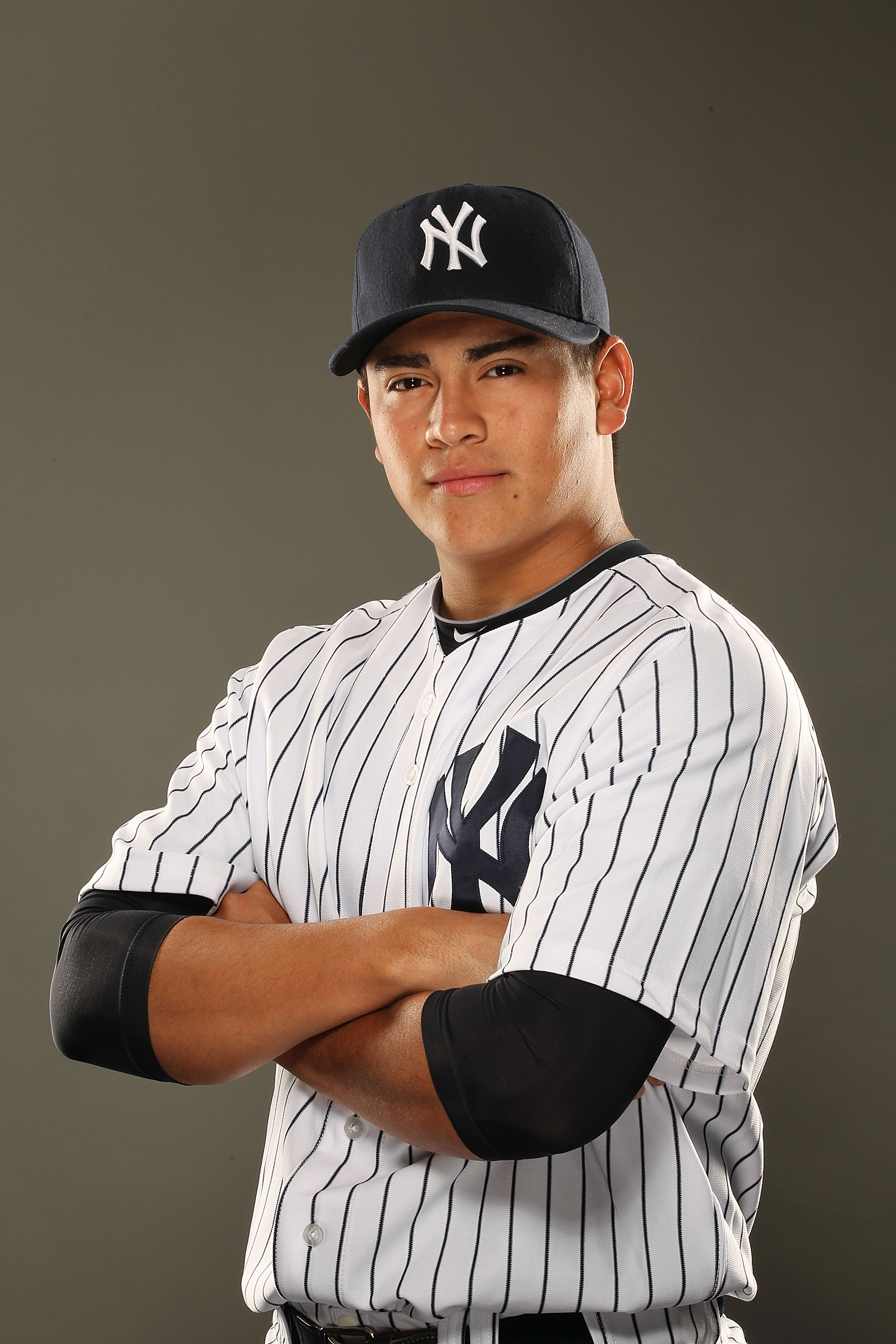 TAMPA, FL - FEBRUARY 23:  Manuel Banuelos #92 of the New York Yankees poses for a portrait on Photo Day at George M. Steinbrenner Field on February 23, 2011 in Tampa, Florida.  (Photo by Al Bello/Getty Images)
