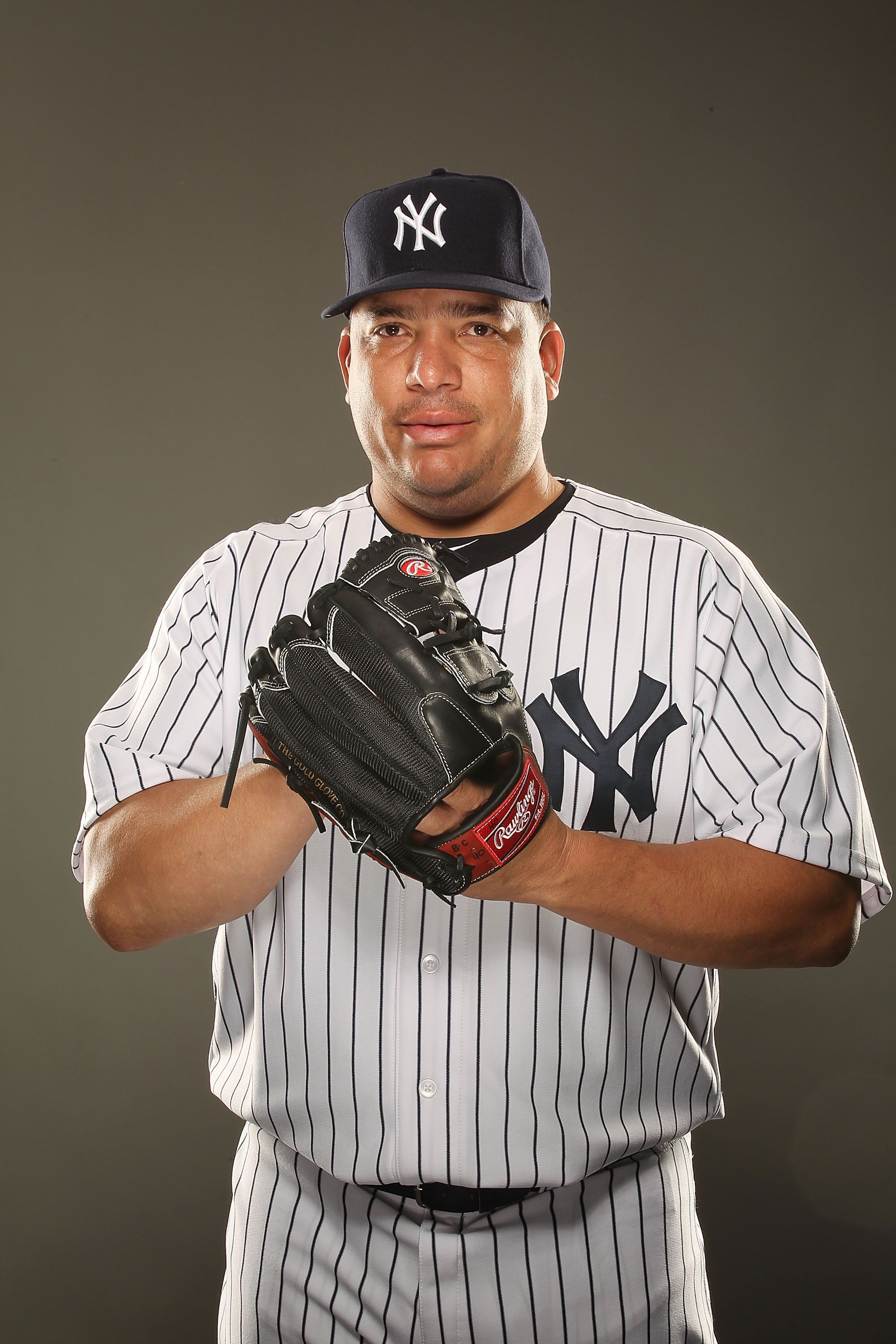 TAMPA, FL - FEBRUARY 23:  Bartolo Colon #40 of the New York Yankees poses for a portrait on Photo Day at George M. Steinbrenner Field on February 23, 2011 in Tampa, Florida.  (Photo by Al Bello/Getty Images)