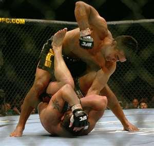 Lyoto Machida brutalizing his opponent