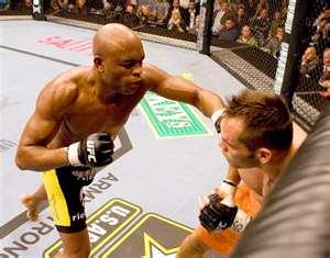 Anderson Silva punishing Rich Franklin