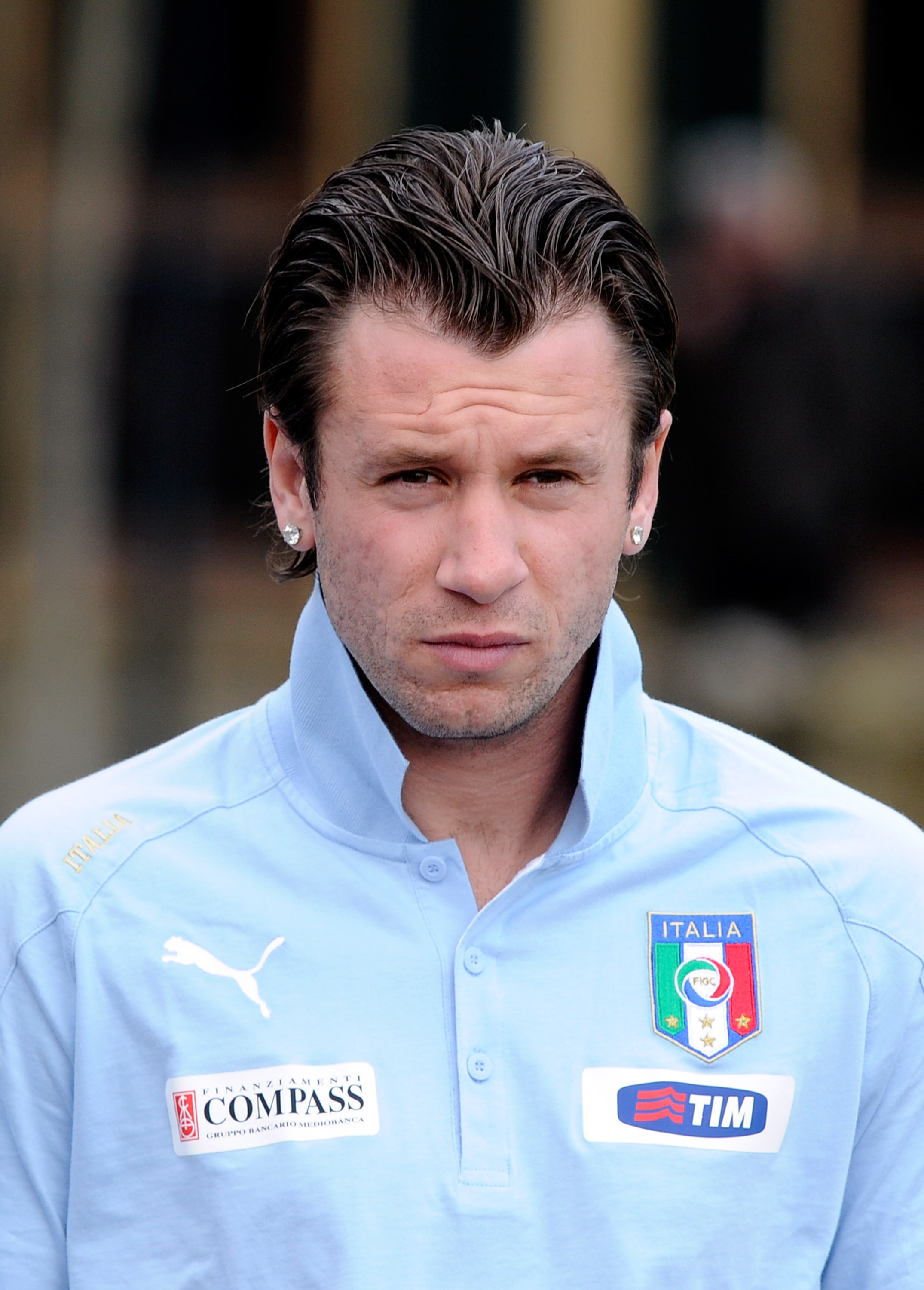 FLORENCE, ITALY - MARCH 21:  Antonio Cassano of Italy during the Training Session at Coverciano on March 21, 2011 in Florence, Italy.  (Photo by Claudio Villa/Getty Images)