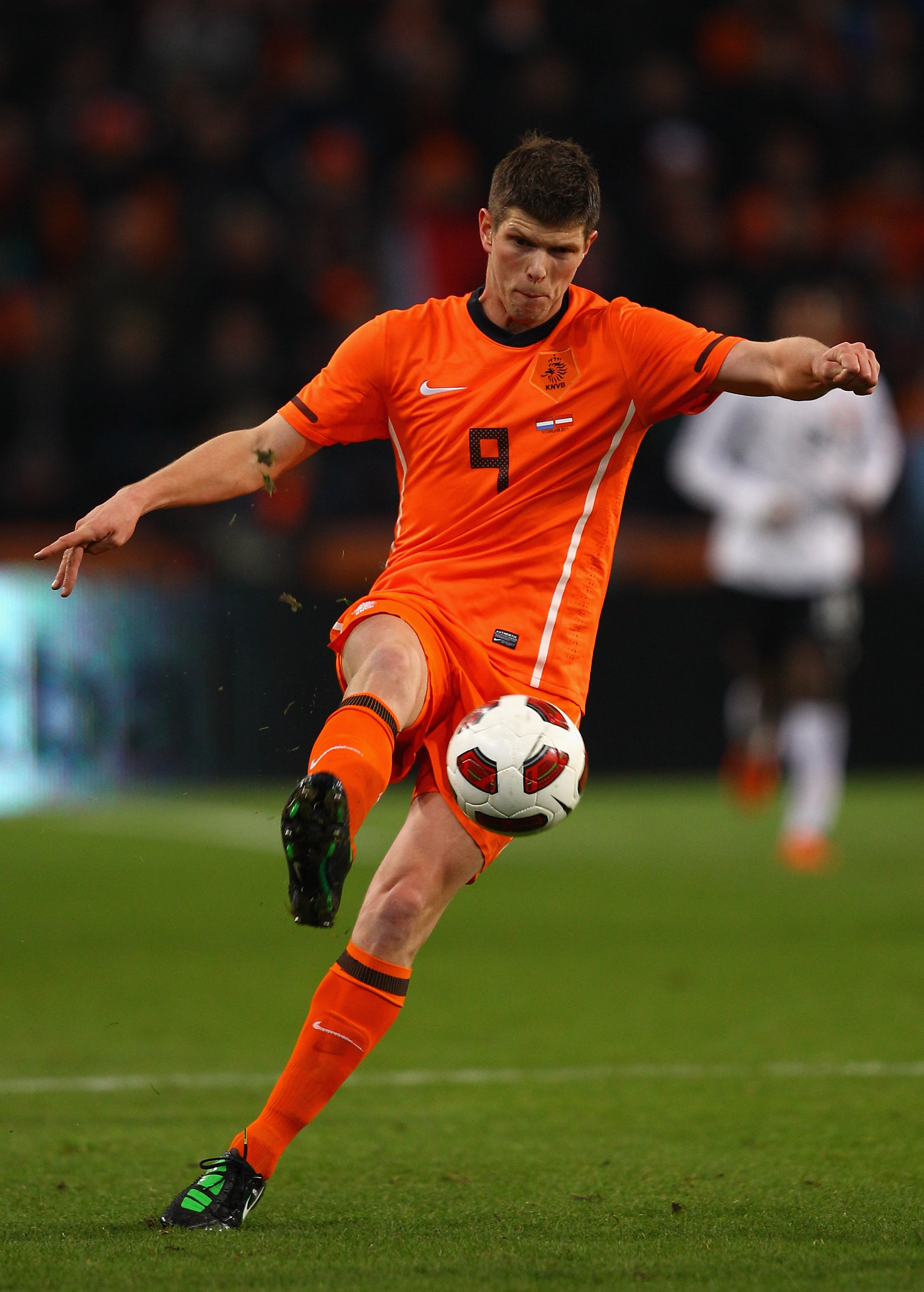 EINDHOVEN, NETHERLANDS - FEBRUARY 09:  Klaas Jan Huntelaar of The Netherlands during the International Friendly match between The Netherlands and Austria at the Phillips Stadion on February 9, 2011 in Eindhoven, Netherlands.  (Photo by Richard Heathcote/G