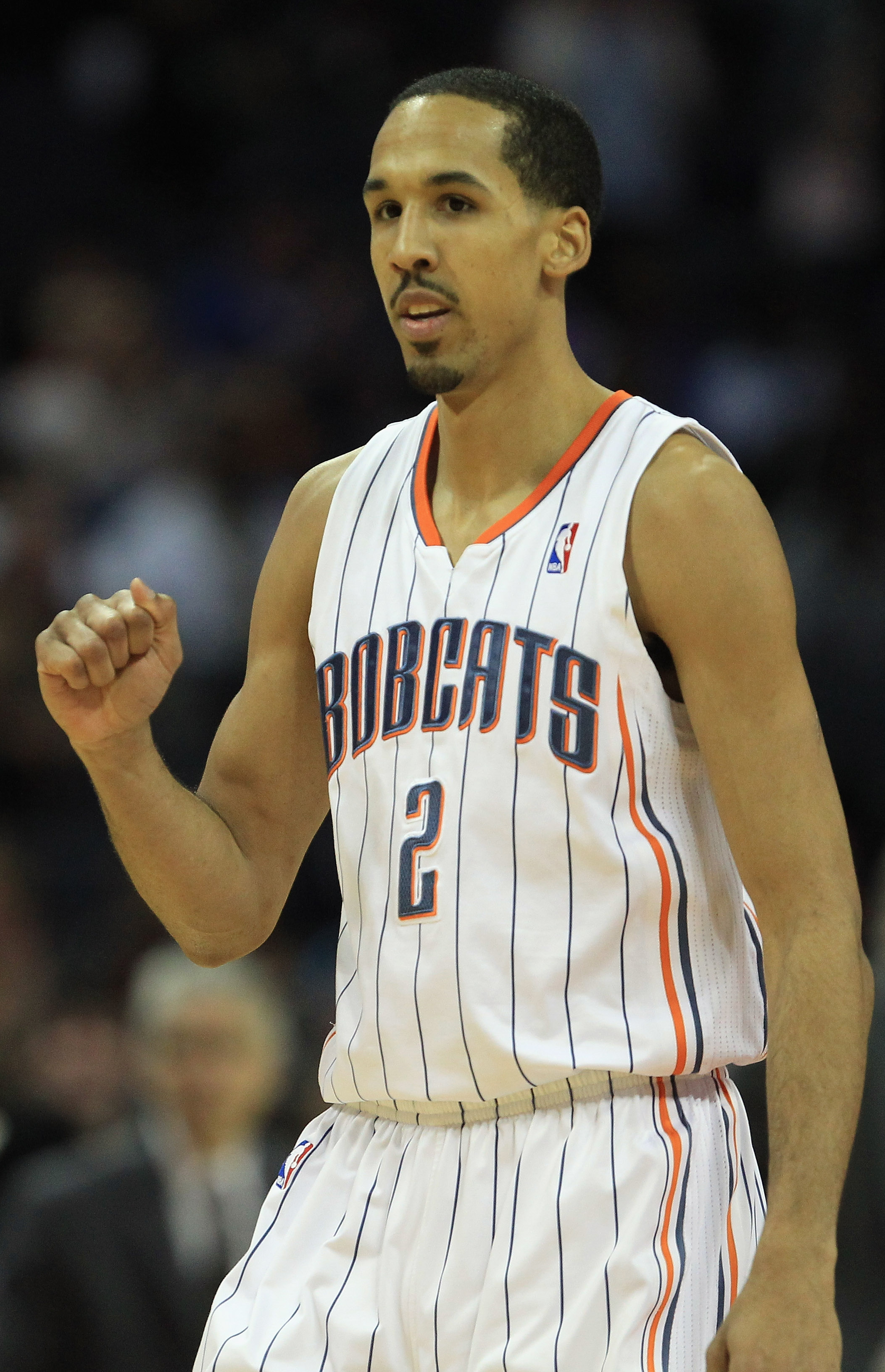 CHARLOTTE, NC - FEBRUARY 25:  Shaun Livingston #2 of the Charlotte Bobcats reacts after a play during their game against the Sacramento Kings at Time Warner Cable Arena on February 25, 2011 in Charlotte, North Carolina. NOTE TO USER: User expressly acknow
