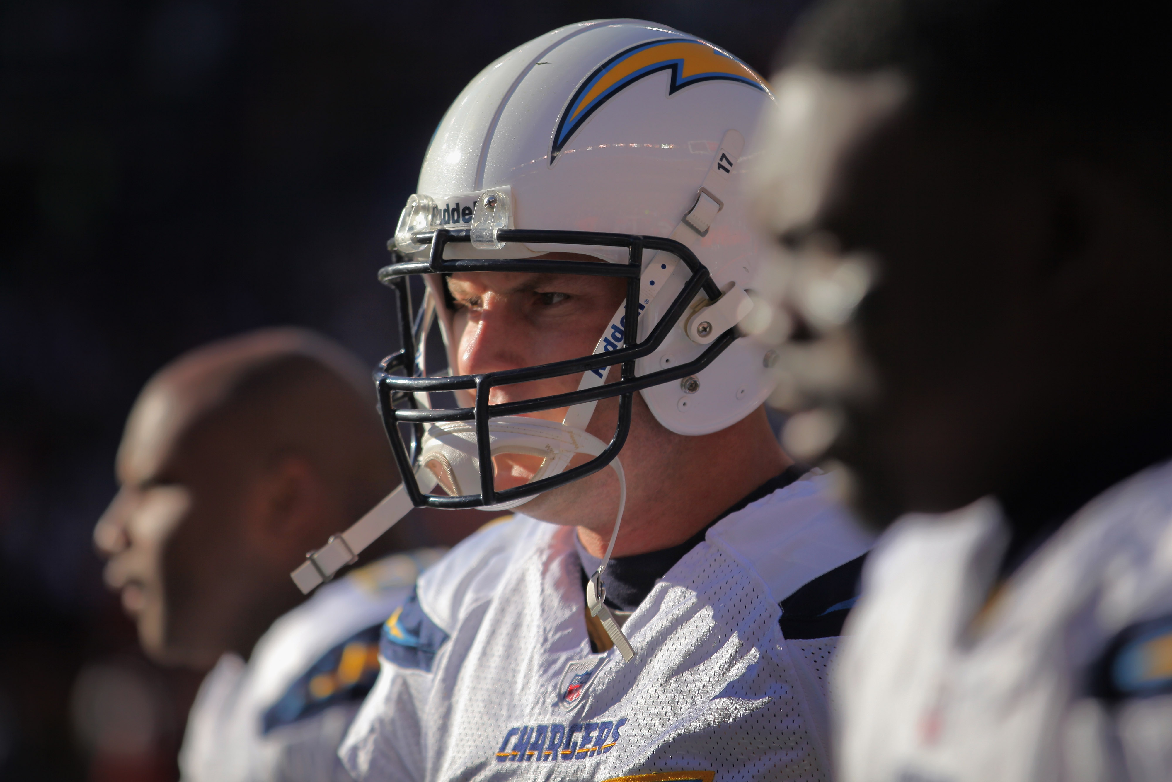 DENVER - JANUARY 02:  Quarterback Philip Rivers #17 of the San Diego Chargers takes the field against the Denver Broncos at INVESCO Field at Mile High on January 2, 2011 in Denver, Colorado. The Chargers defeated the Broncos 33-28.  (Photo by Doug Pensing