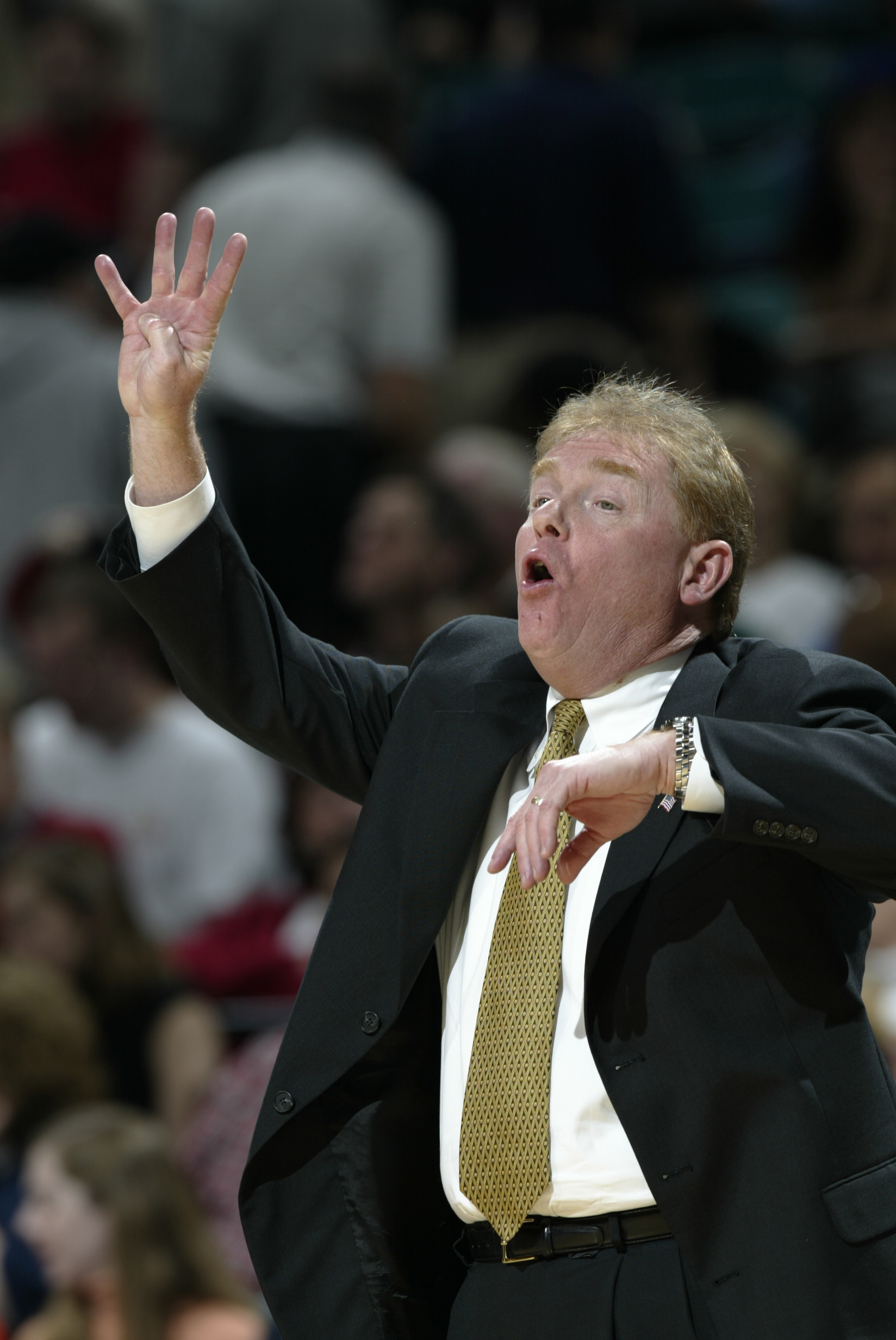 08 Mar 2002:  Head coach  Skip Prosser of Wake Forest directs the team during the ACC Tournament game against Georgia Tech at the Charlotte Coliseum in Charlotte, North Carolina. Wake Forest won 92-83. DIGITAL IMAGE Mandatory Credit: Craig Jones/Getty Ima