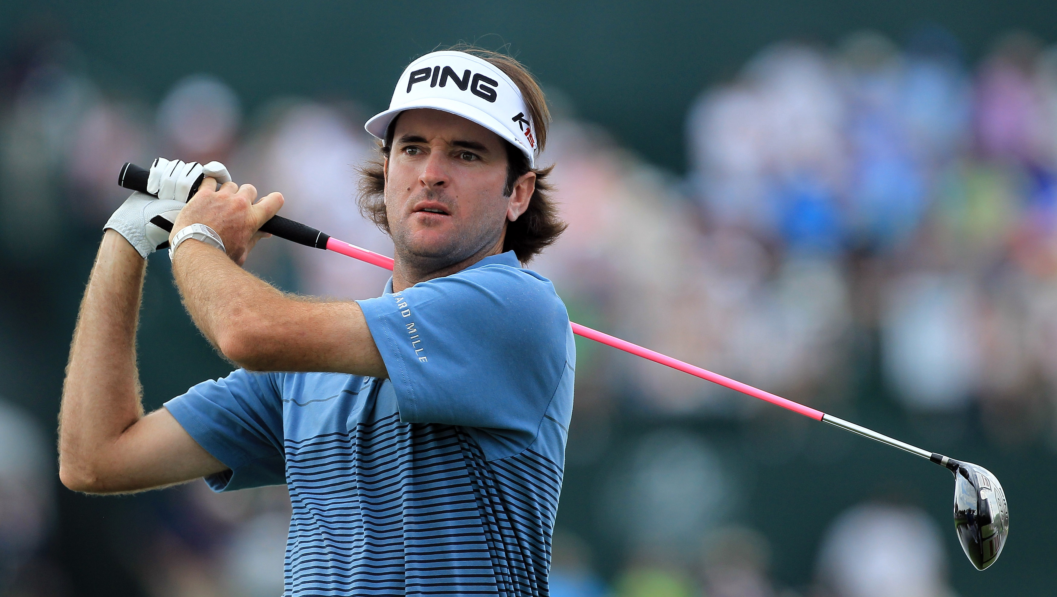 ORLANDO, FL - MARCH 26:  Bubba Watson plays hie tee shot at the 16th hole during the third round of the 2011 Arnold Palmer Invitational presented by Mastercard at the Bay Hill Lodge and Country Club on March 26, 2011 in Orlando, Florida.  (Photo by David