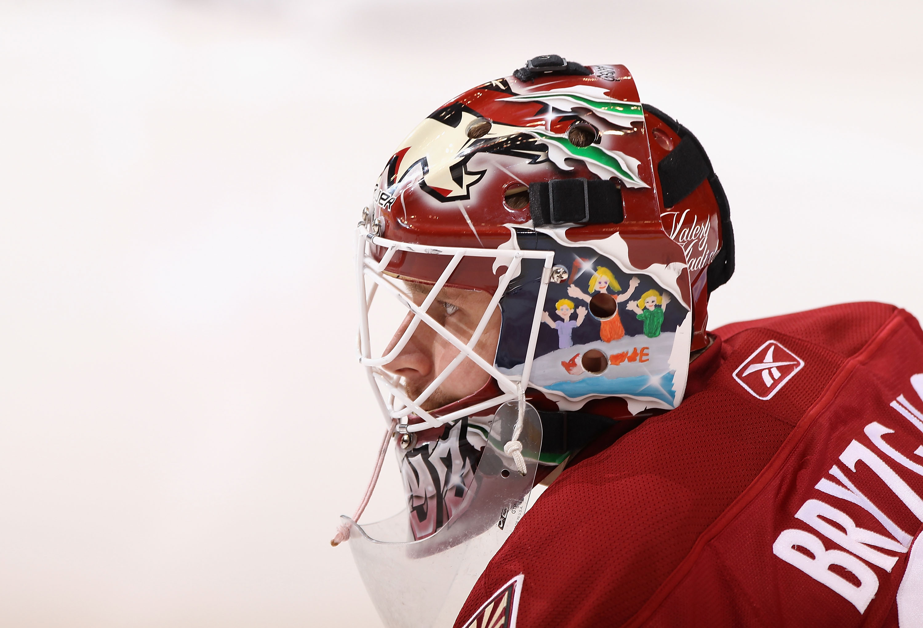 GLENDALE, AZ - MARCH 26:  Goaltender Ilya Bryzgalov #30 of the Phoenix Coyotes warms up before the NHL game against the San Jose Sharks at Jobing.com Arena on March 26, 2011 in Glendale, Arizona.  (Photo by Christian Petersen/Getty Images)