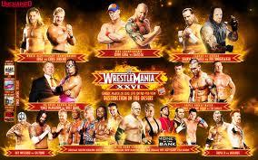 WrestleMania 26 Match Card