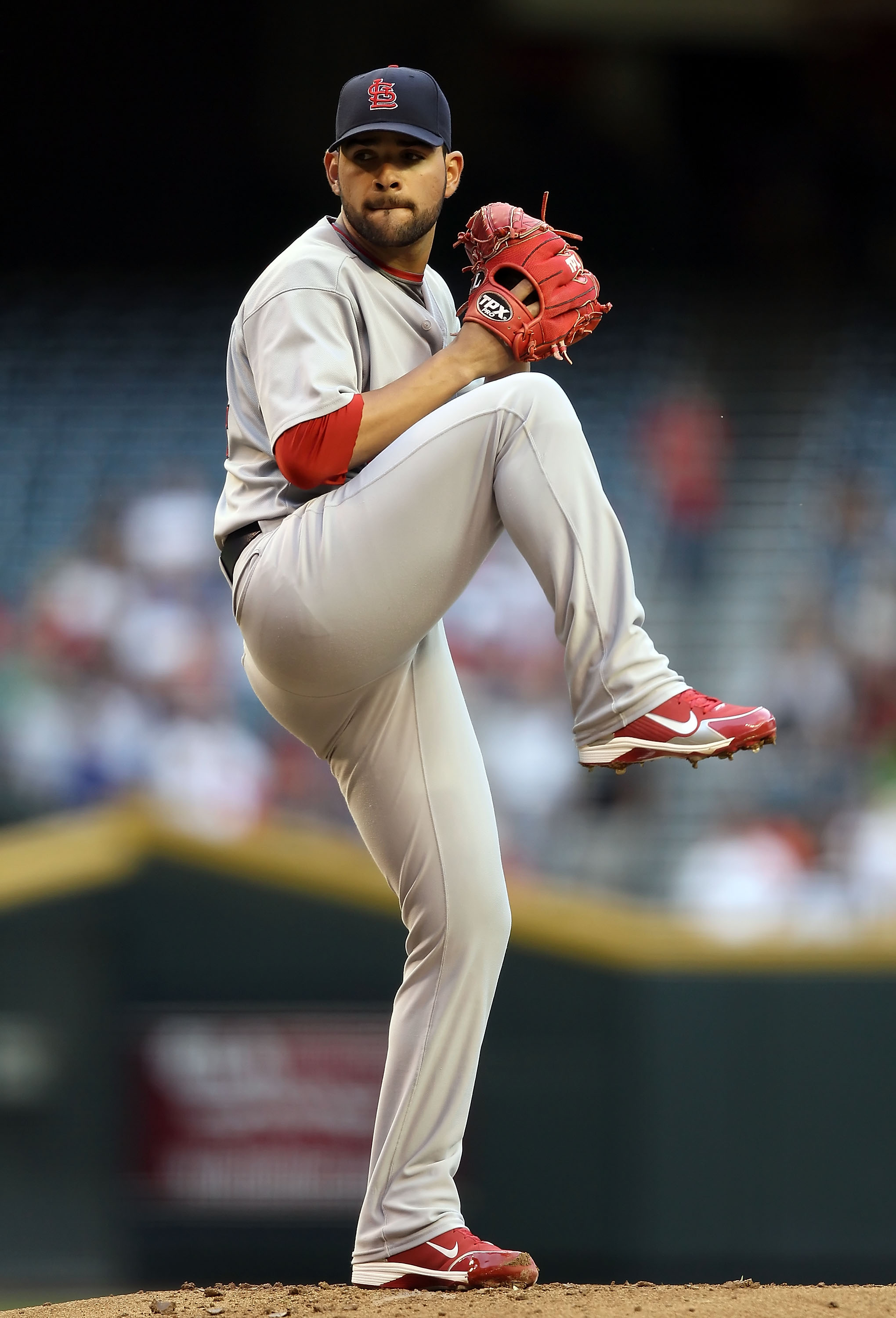 PHOENIX - JUNE 11:  Relief pitcher Jaime Garcia #54 of the St. Louis Cardinals pitches against the Arizona Diamondbacks during the Major League Baseball game at Chase Field on June 11, 2010 in Phoenix, Arizona.  (Photo by Christian Petersen/Getty Images)