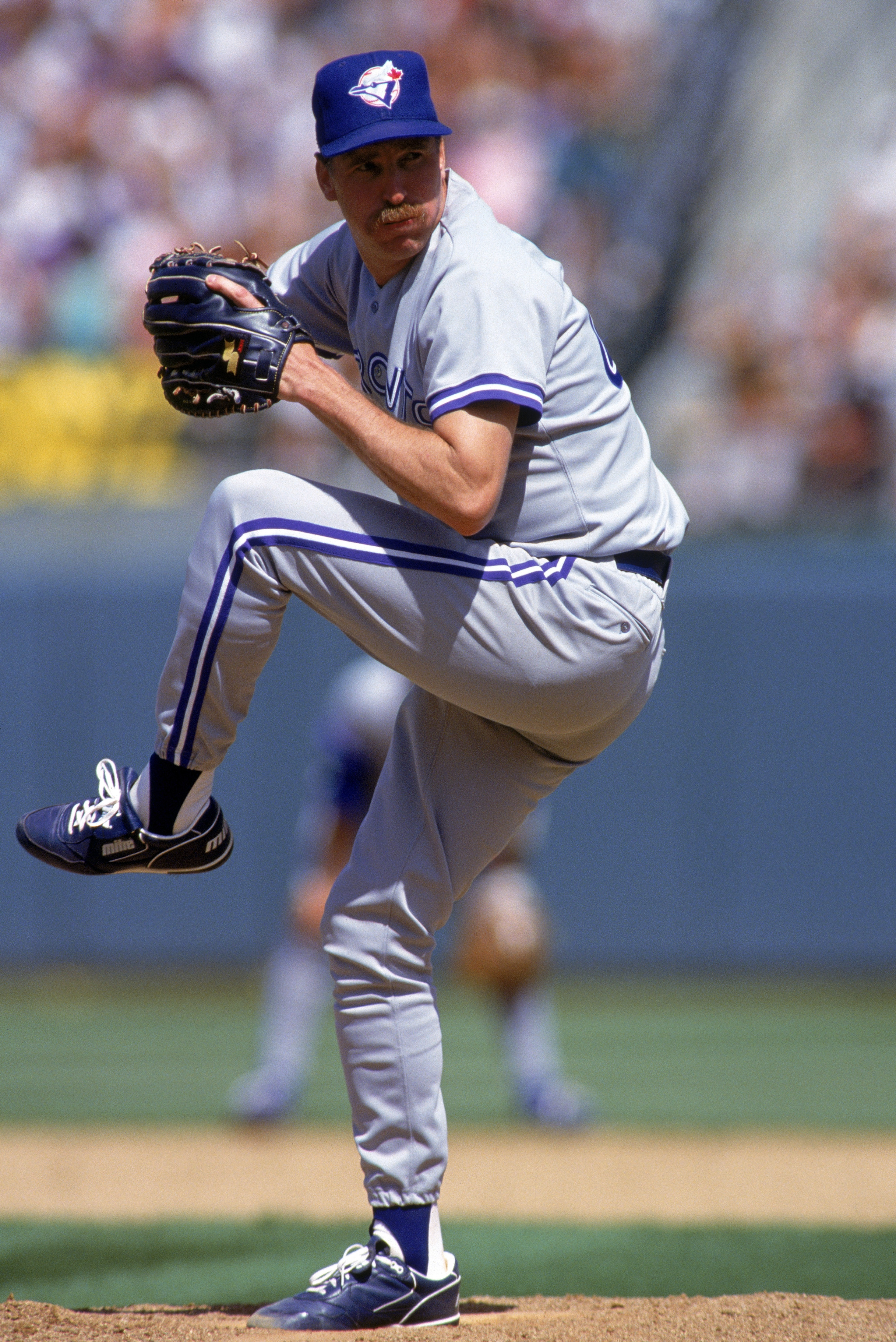 OAKLAND, CA - JULY 26:  Pitcher Jack Morris #47 of the Toronto Blue Jays on the mound during a game against the Oakland A's on July 26, 1992 at Oakland Alameda County Stadium in Oakland, California.  (Photo by Otto Greule Jr./Getty Images)