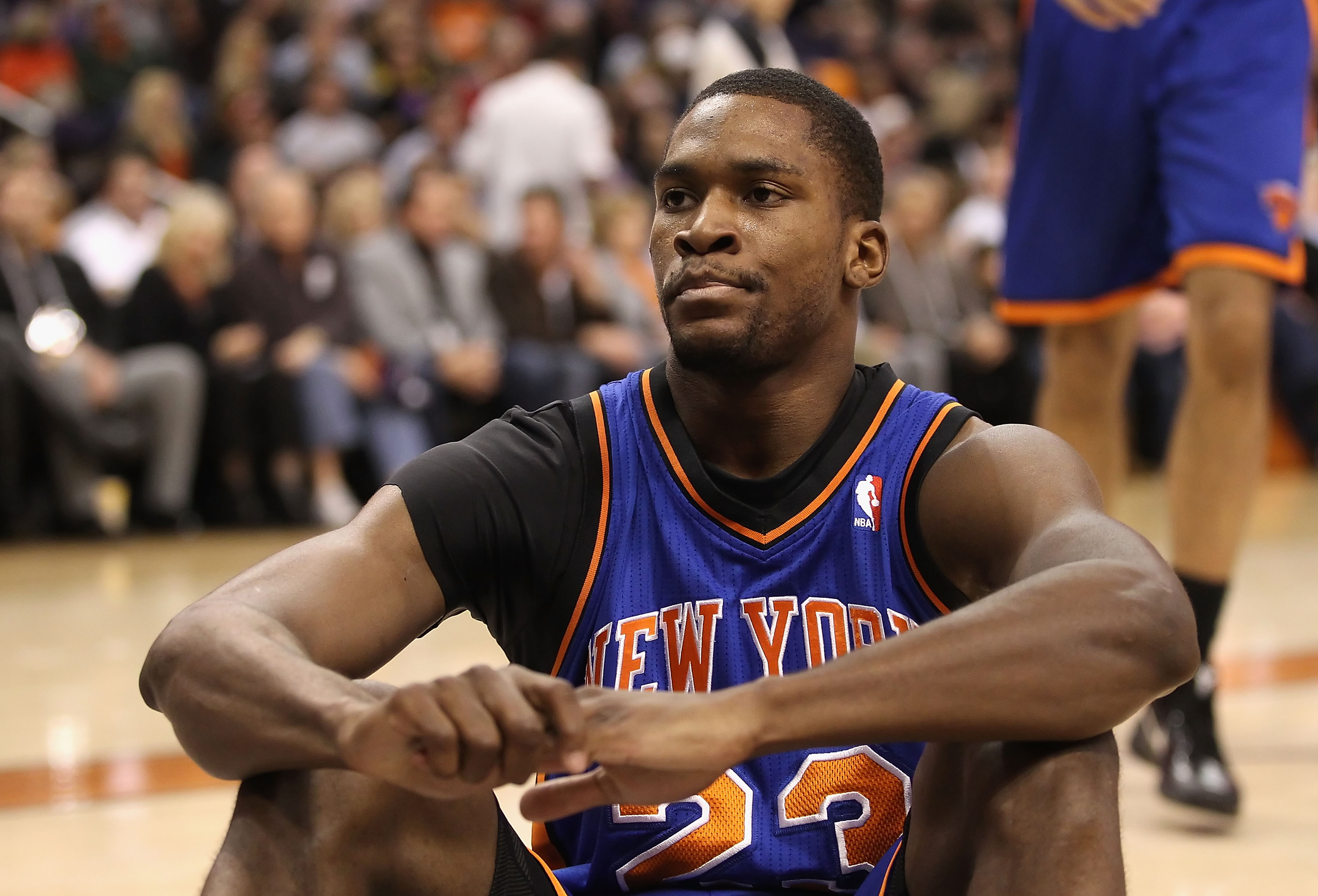 PHOENIX, AZ - JANUARY 07:  Toney Douglas #23 of the New York Knicks during the NBA game against the Phoenix Suns at US Airways Center on January 7, 2011 in Phoenix, Arizona.  NOTE TO USER: User expressly acknowledges and agrees that, by downloading and or