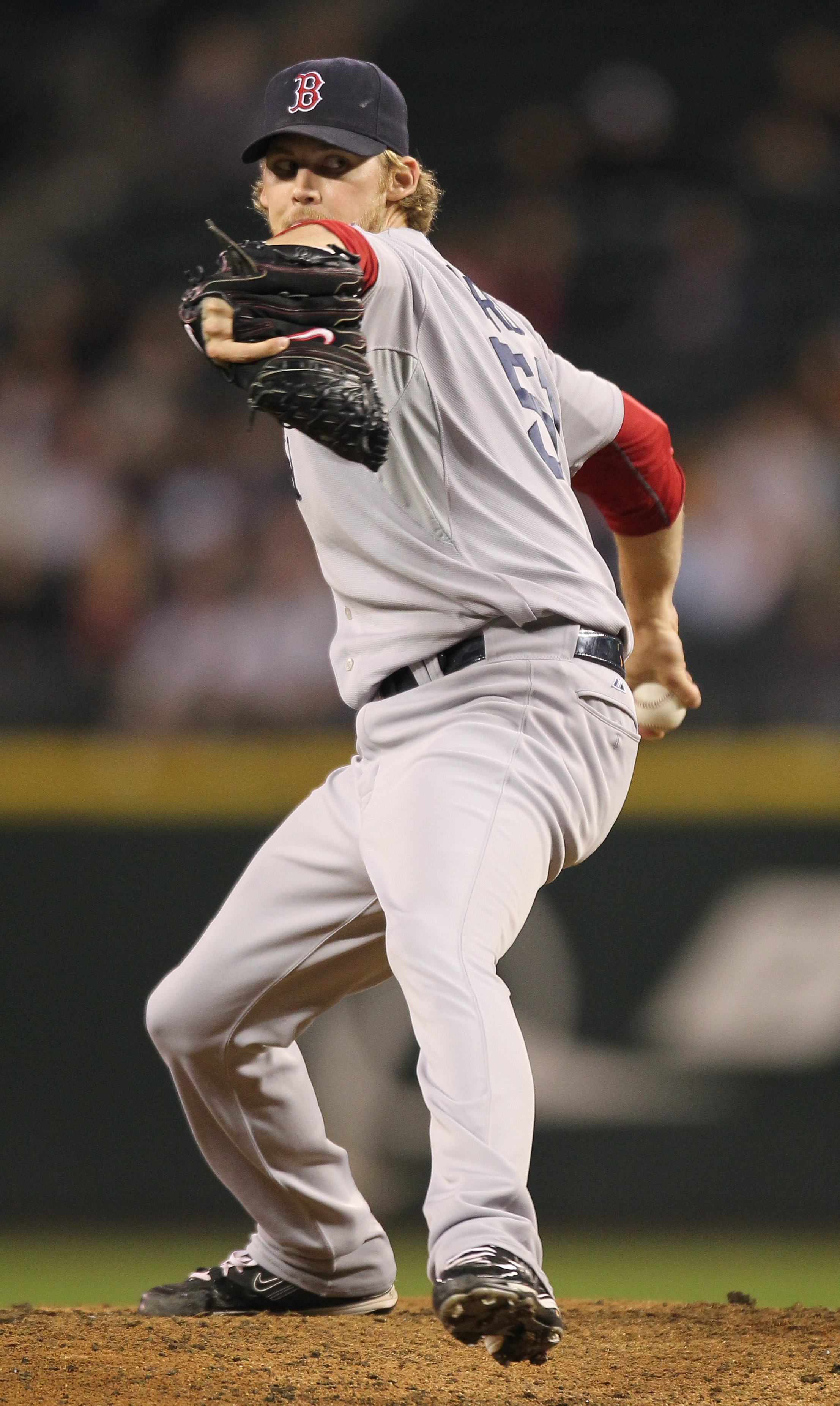 SEATTLE - SEPTEMBER 13:  Daniel Bard #51 of the Boston Red Sox pitches against the Seattle Mariners at Safeco Field on September 13, 2010 in Seattle, Washington. (Photo by Otto Greule Jr/Getty Images)