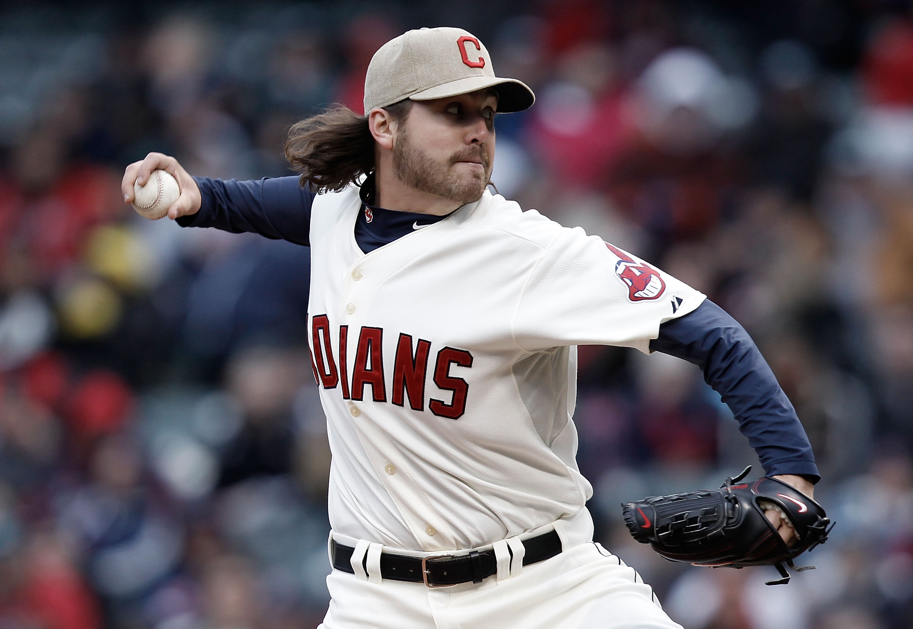 CLEVELAND, OH- APRIL 17: Chris Perez #54 of the Cleveland Indians pitches against the Chicago White Sox in the ninth inning during the game on April 17, 2010 at Progressive Field in Cleveland, Ohio.  (Photo by Jared Wickerham/Getty Images)