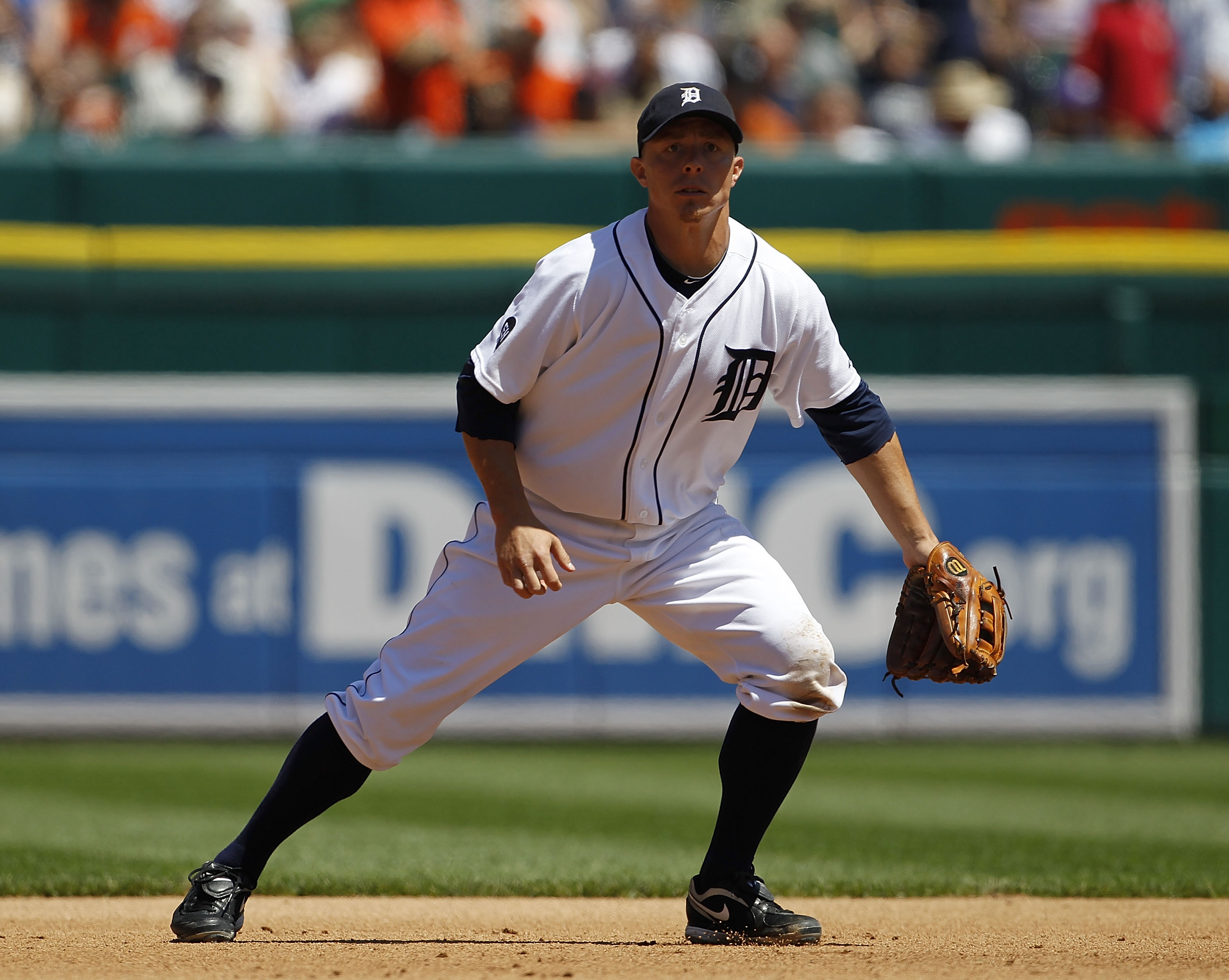 DETROIT - JUNE 17:  Brandon Inge #15 of the Detroit Tigers during the game against the Washington Nationals on June 17, 2010 at Comerica Park in Detroit, Michigan. The Tigers defeated the Nationals 8-3. (Photo by Leon Halip/Getty Images)