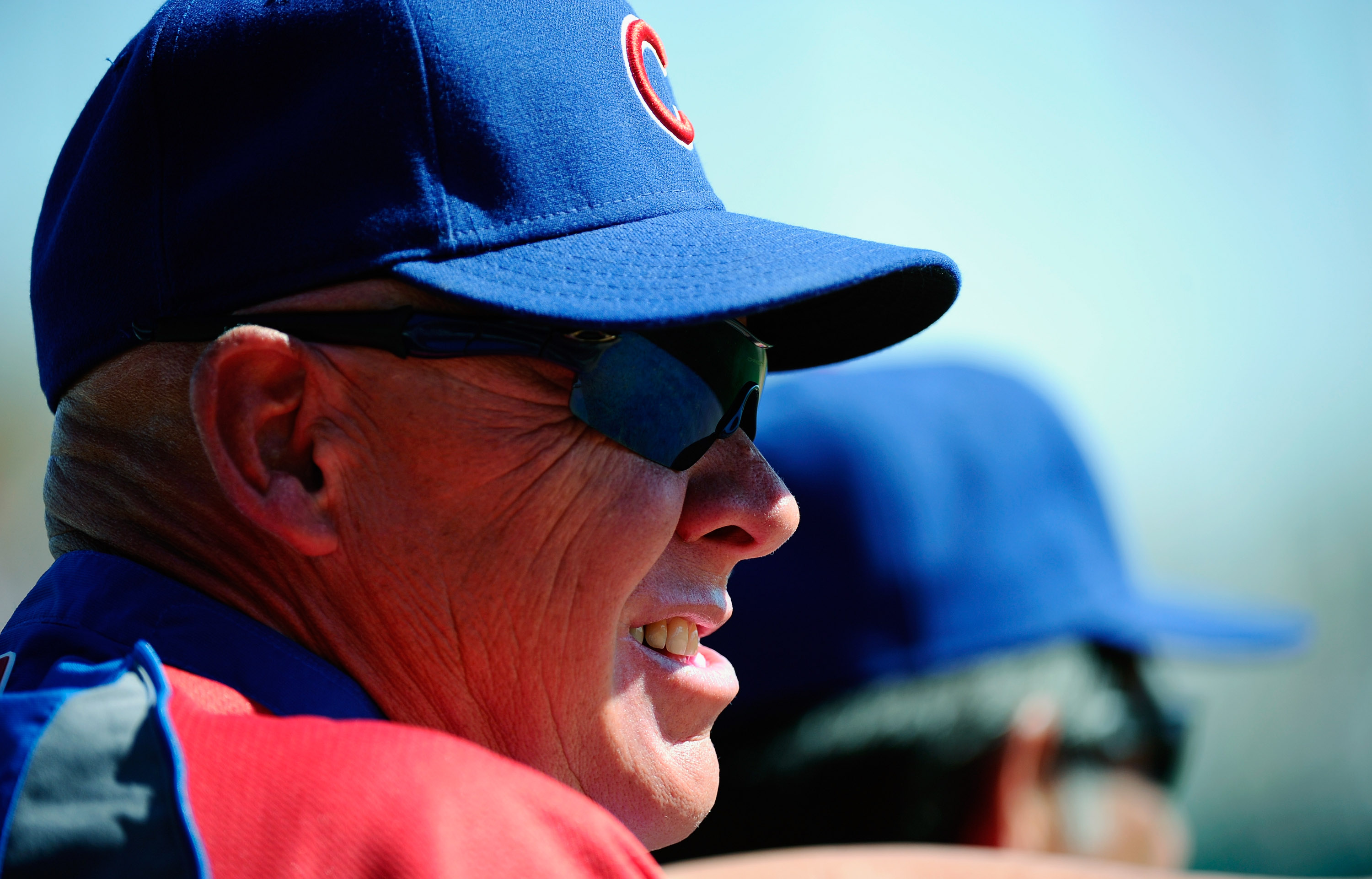 GLENDALE, AZ - MARCH 11:  Manager Mike Quade #8 Chicago Cubs during the spring training baseball game against  the Chicago White Sox at Camelback Ranch on March 11, 2011 in Glendale, Arizona.  (Photo by Kevork Djansezian/Getty Images)