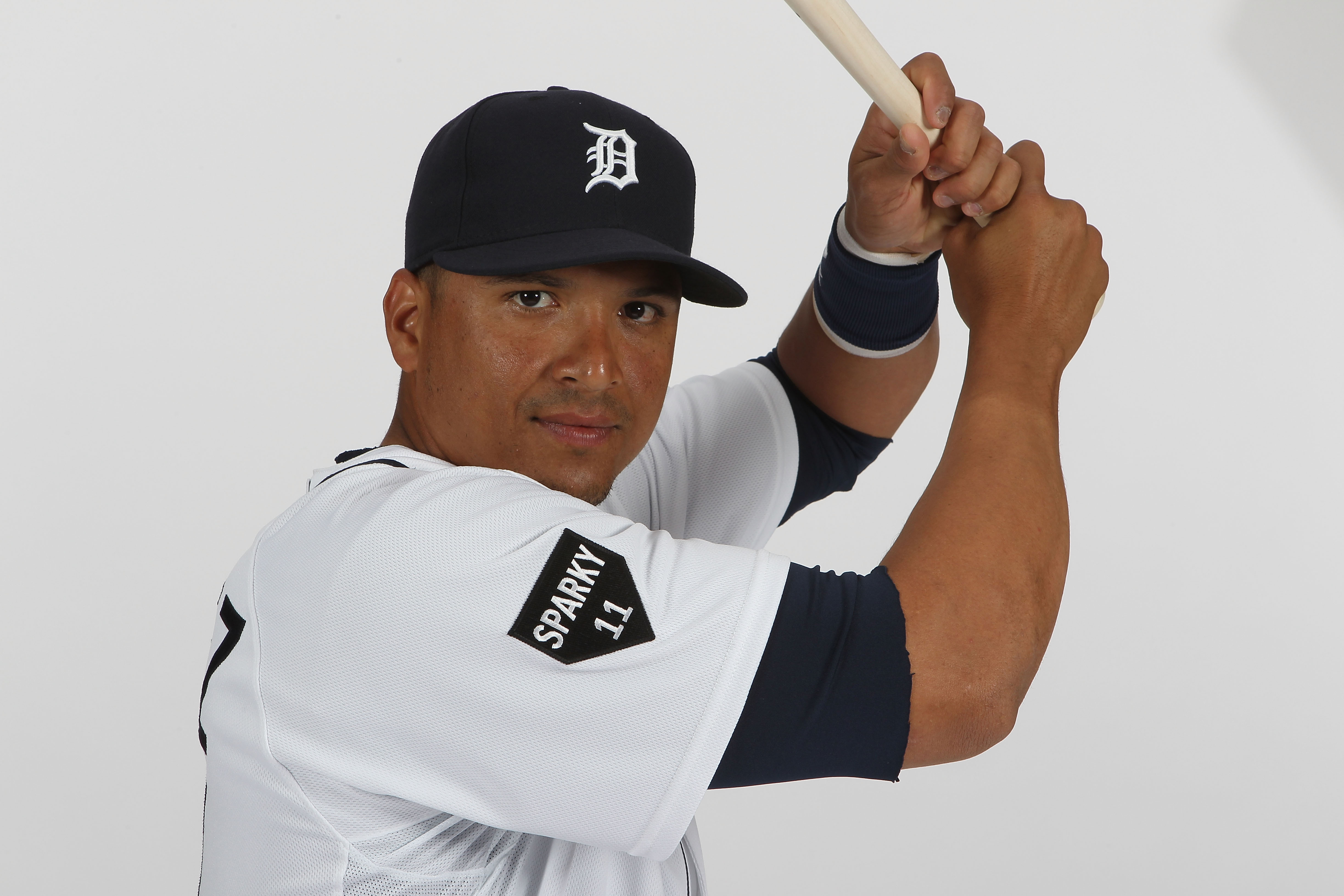 LAKELAND, FL - FEBRUARY 21:  Victor Martinez #41 of the Detroit Tigers poses for a portrait during Photo Day on February 21, 2011 at Joker Marchant Stadium in Lakeland, Florida.  (Photo by Nick Laham/Getty Images)