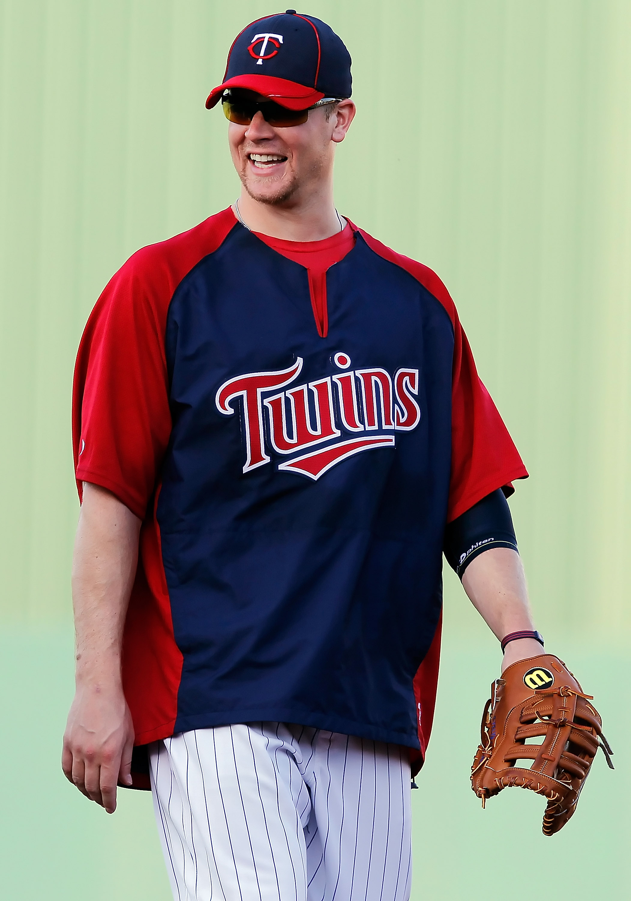 FORT MYERS, FL - FEBRUARY 27:  First baseman Justin Morneau #33 of the Minnesota Twins smiles just before the start of the Grapefruit League Spring Training Game against the Boston Red Sox at Hammond Stadium on February 27, 2011 in Fort Myers, Florida.  (
