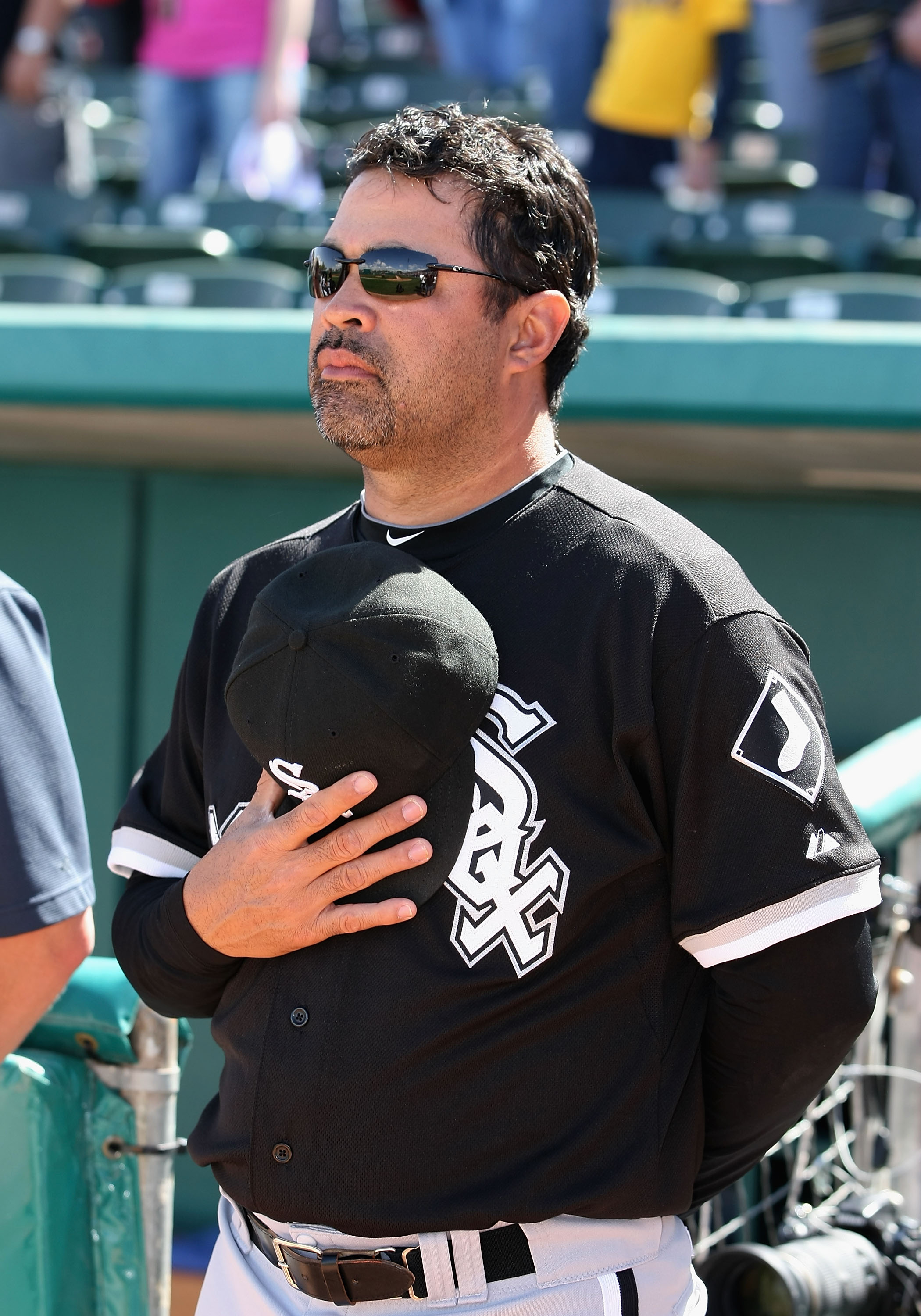 TUCSON, AZ - MARCH 07:  Manager Ozzie Guillen #13 of the Chicago White Sox during the spring training game against the Arizona Diamondbacks at Kino Veterans Memorial Stadium on March 7, 2011 in Tucson, Arizona.  (Photo by Christian Petersen/Getty Images)