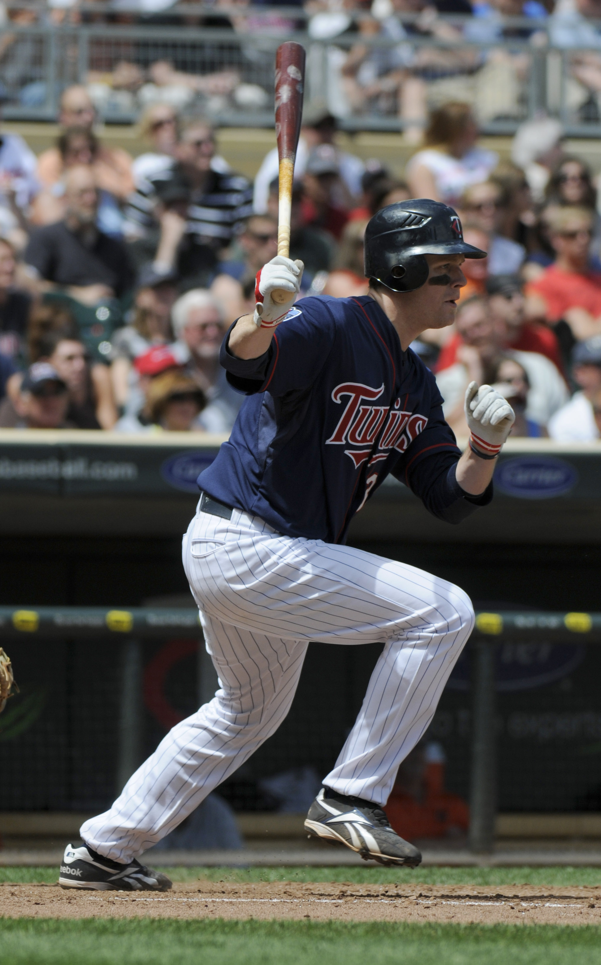 MINNEAPOLIS, MN - JUNE 30: Justin Morneau #33 of the Minnesota Twins bats in the eighth inning against the Detroit Tigers during their game on June 30, 2010 at Target Field in Minneapolis, Minnesota. Twins won 5-1. (Photo by Hannah Foslien /Getty Images)