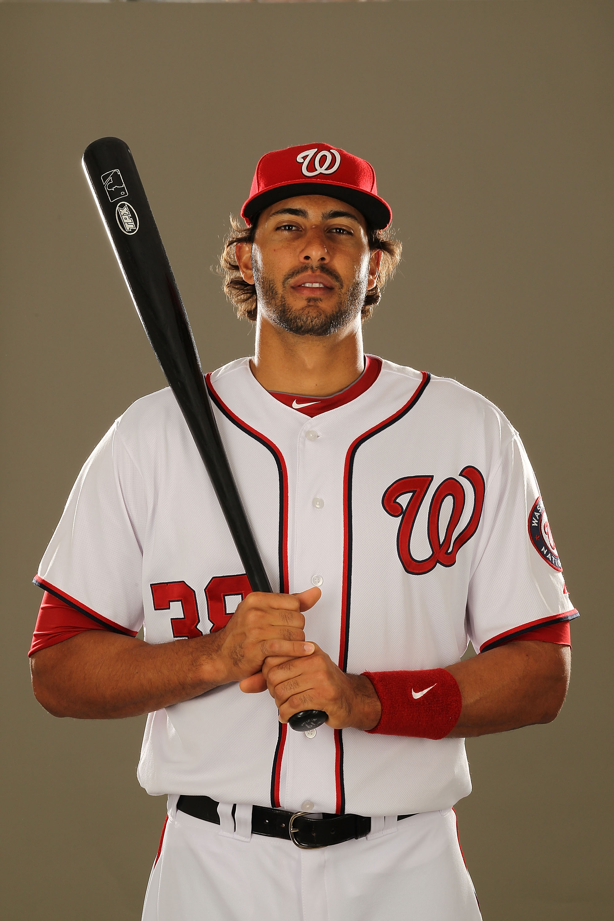 VIERA, FL - FEBRUARY 25:  Michael Morse #38 of the Washington Nationals poses for a portrait during Spring Training Photo Day at Space Coast Stadium on February 25, 2011 in Viera, Florida.  (Photo by Al Bello/Getty Images)