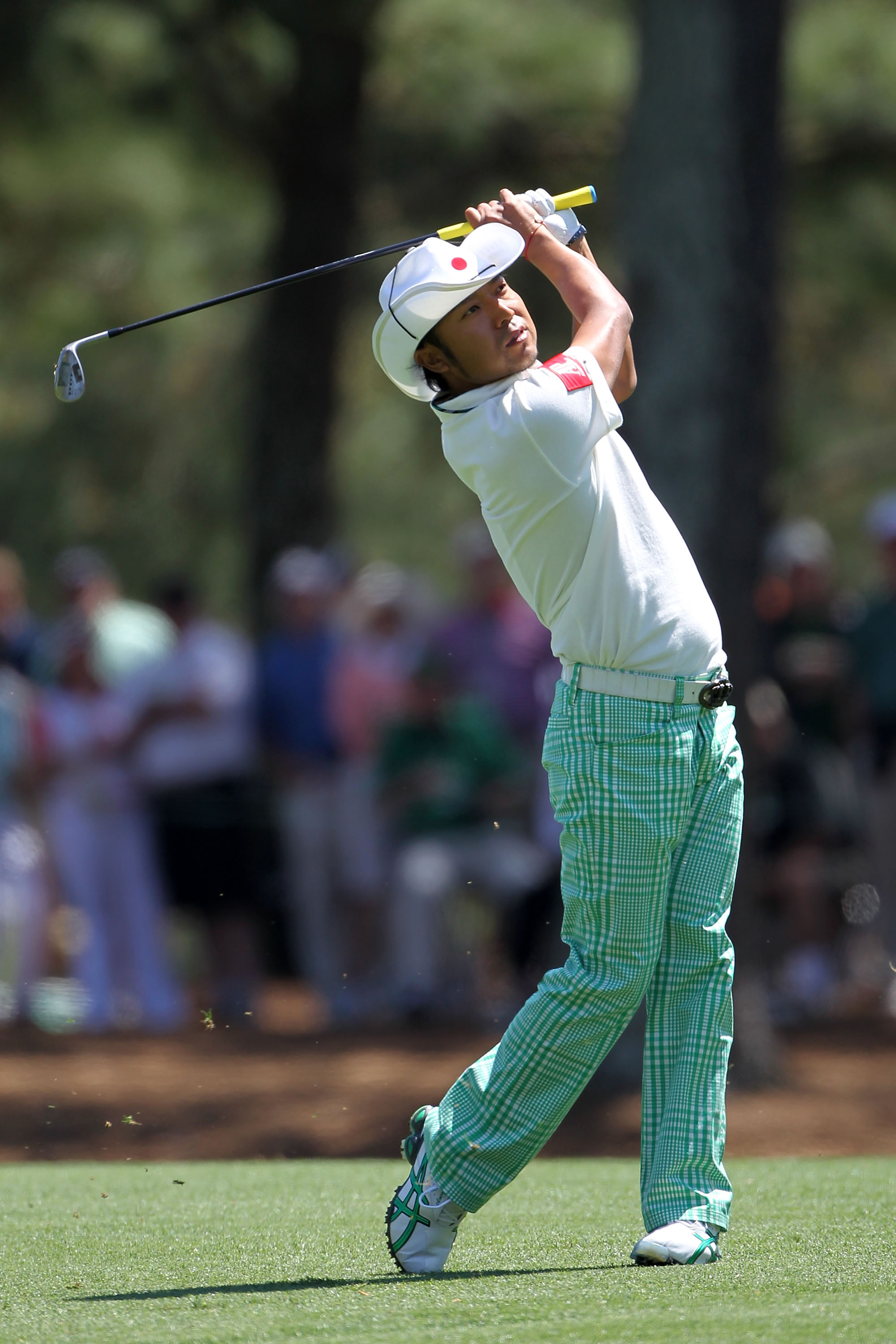 AUGUSTA, GA - APRIL 09:  Shingo Katayama of Japan plays a shot on the 14th hole during the second round of the 2010 Masters Tournament at Augusta National Golf Club on April 9, 2010 in Augusta, Georgia.  (Photo by Jamie Squire/Getty Images)