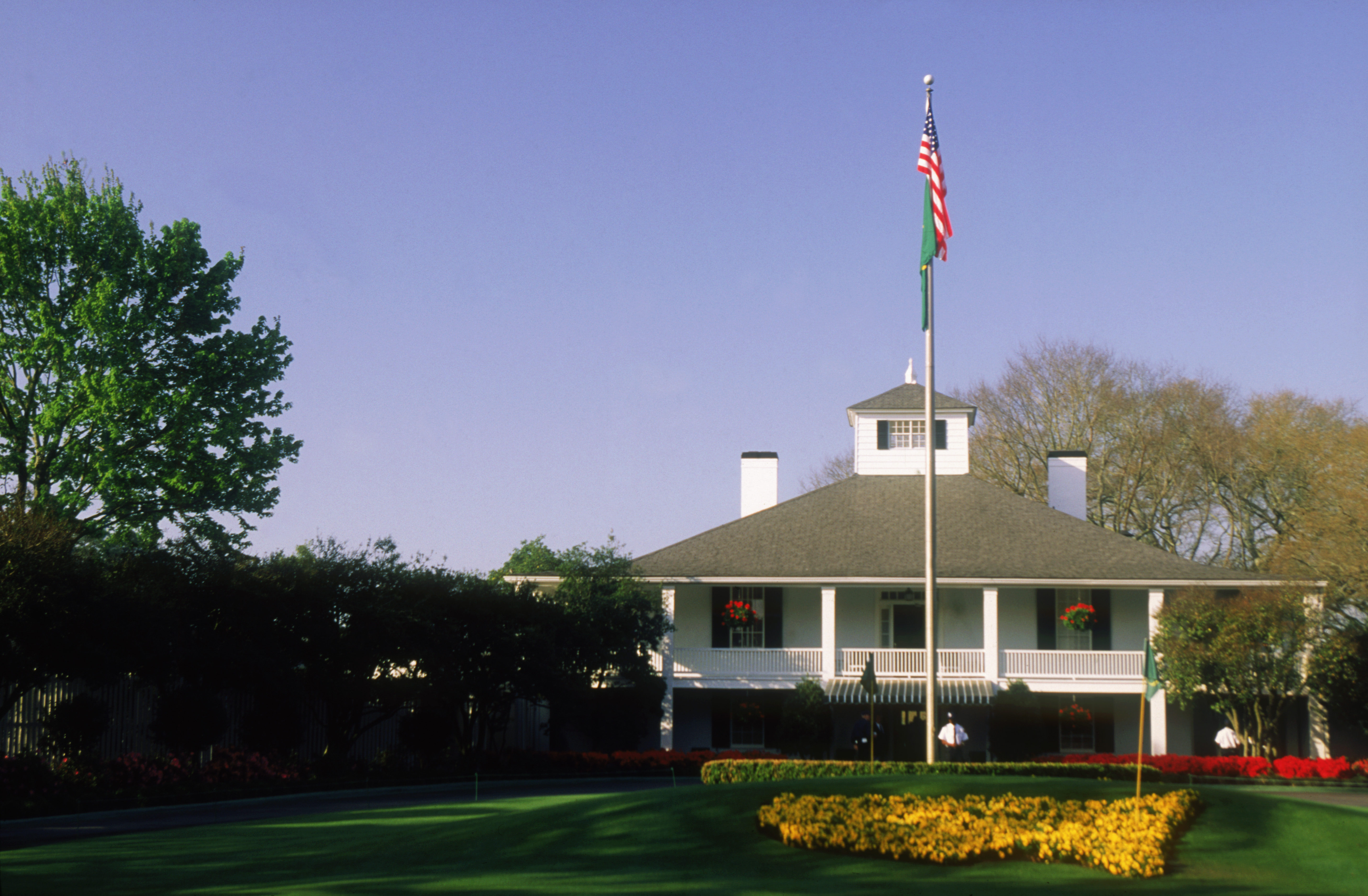 AUGUSTA - APRIL 11:  General view of the Club House taken at the Augusta National Golf Club during the US Masters tournament on April 11, 1996 in Augusta, Georgia, USA. (Photo by David Cannon/Getty Images)