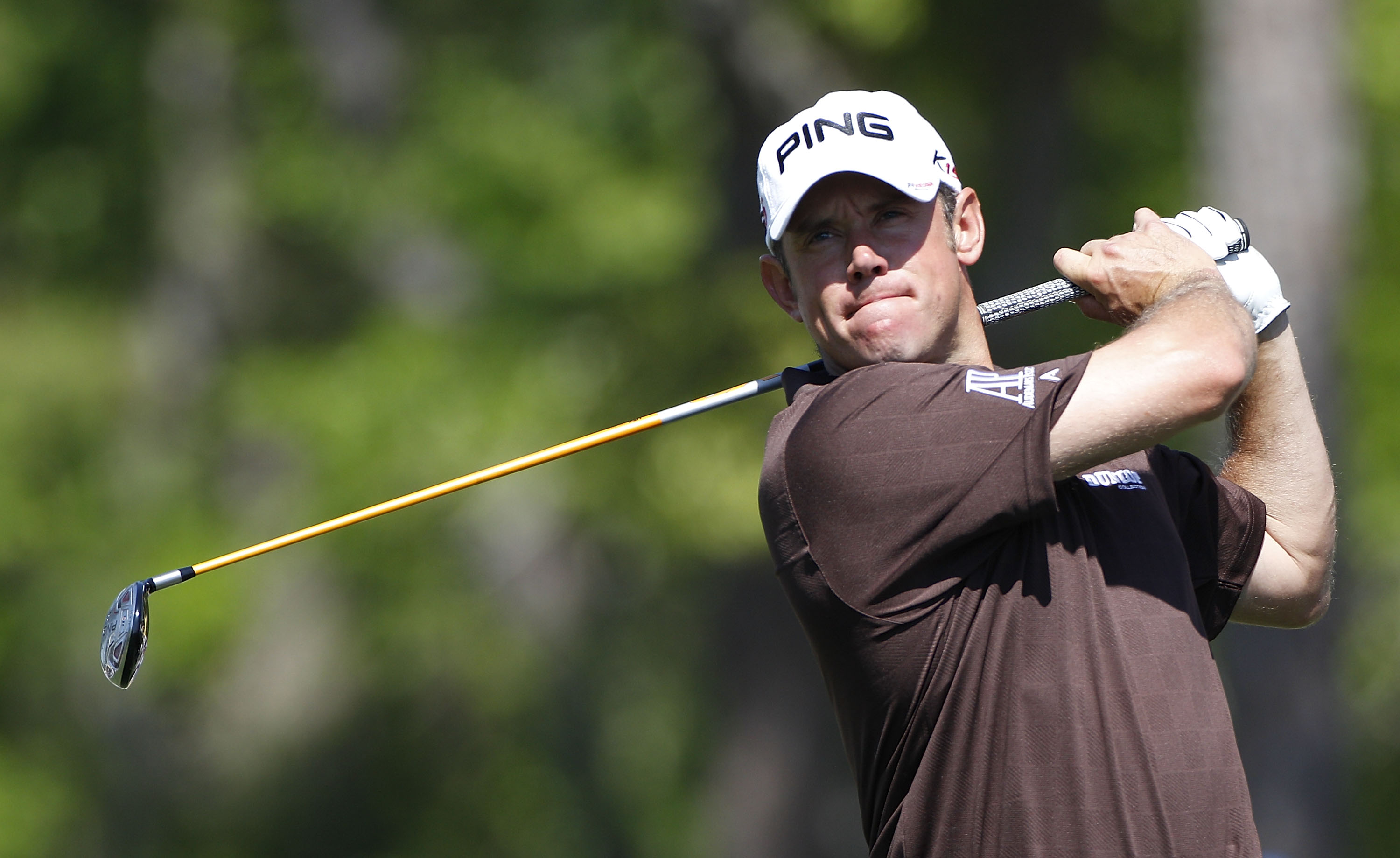 HUMBLE, TX - MARCH 31:  Lee Westwood of England hits a drive during the first round of the Shell Houston Open at Redstone Golf Club on March 31, 2011 in Humble, Texas.  (Photo by Michael Cohen/Getty Images)