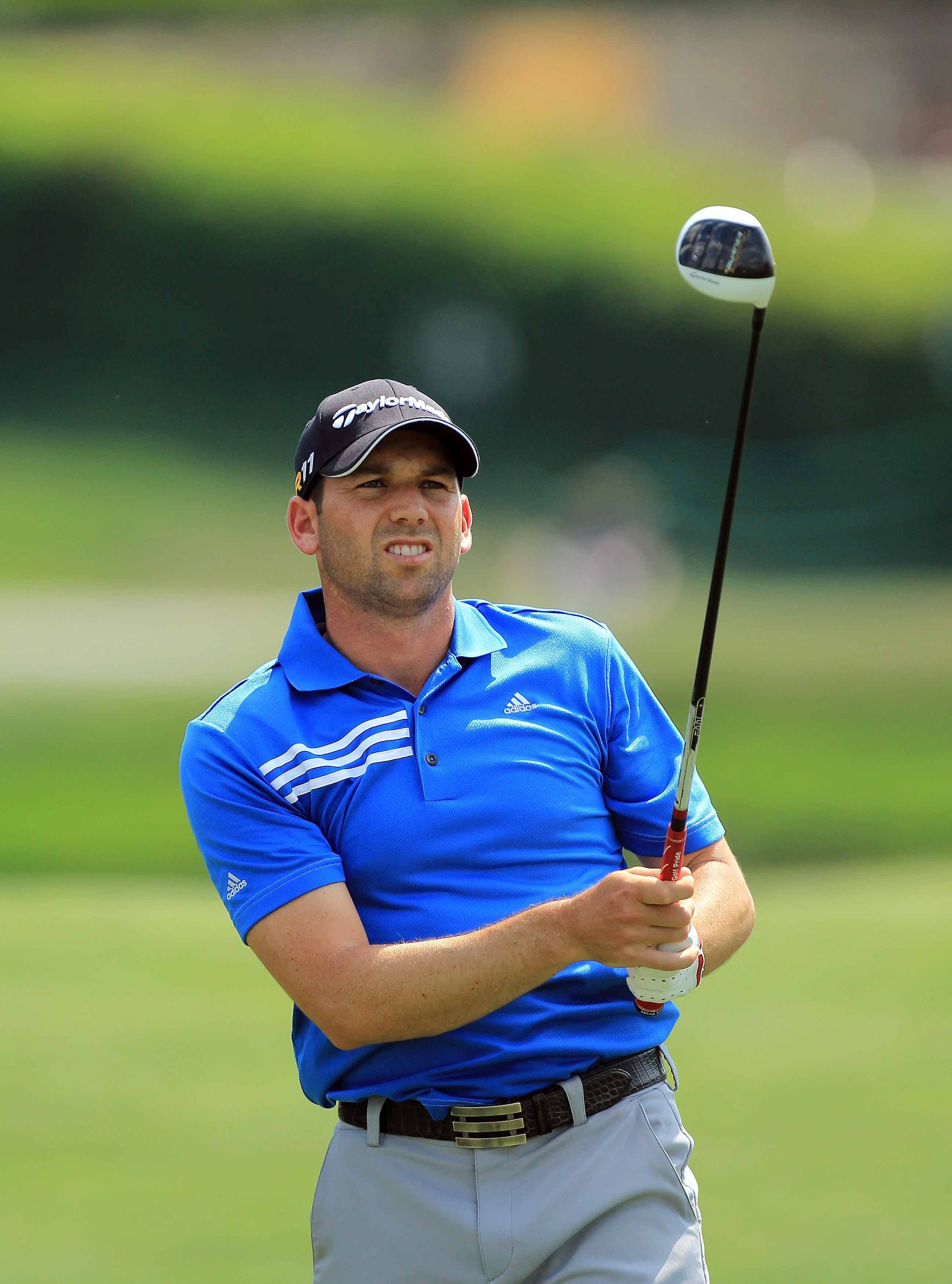 ORLANDO, FL - MARCH 27:  Sergio Garcia of Spain plays his tee shot on the 16th hole during the final round of the 2011 Arnold Palmer Invitational presented by Mastercard at the Bay Hill Lodge and Country Club on March 27, 2011 in Orlando, Florida.  (Photo