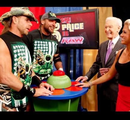 Bob Barker hosting The Price Is Raw on September 7, 2009.
