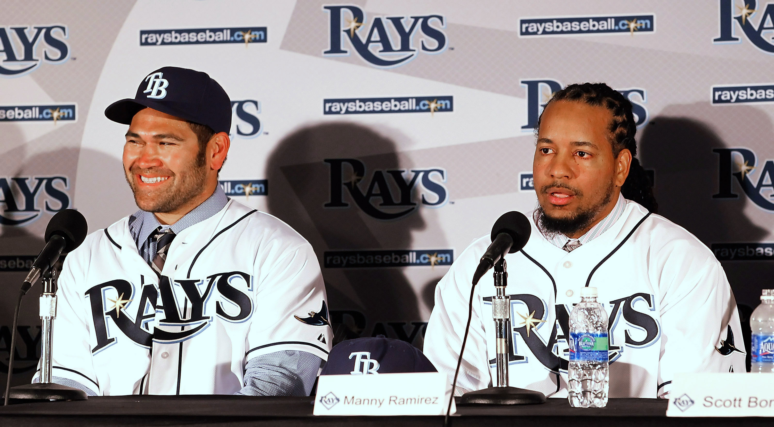 Not a good start in Tampa for Johny Damon and Manny Ramirez.