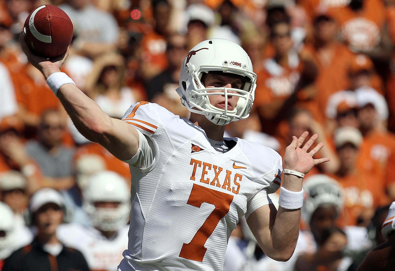 Texas Football 10 Ways For Quarterback Garrett Gilbert To Improve In 2011 Bleacher Report Latest News Videos And Highlights