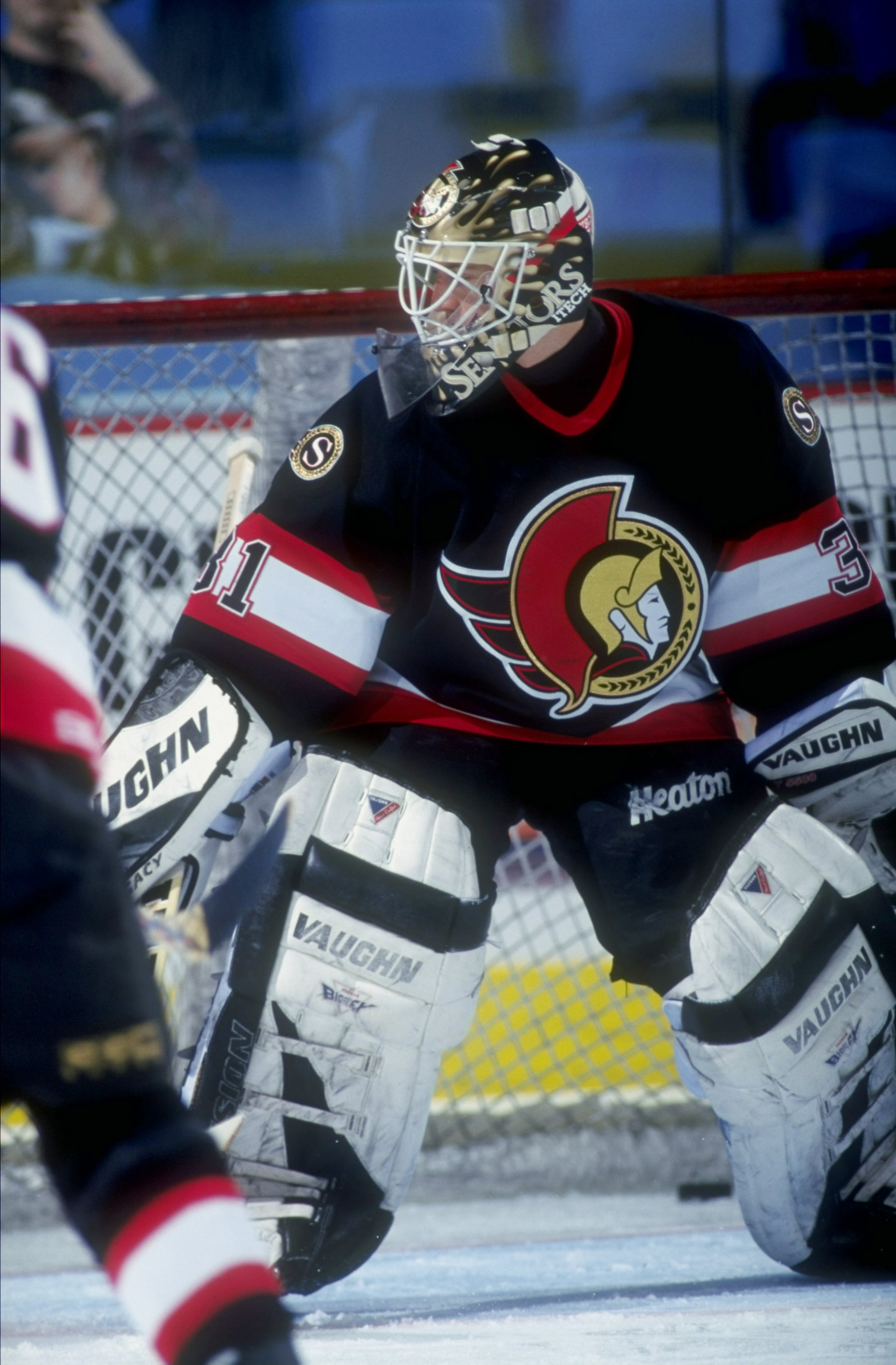 19 Apr 1998  Goaltender Ron Tugnut of the Ottawa Senators in action during  a game 21230e31f
