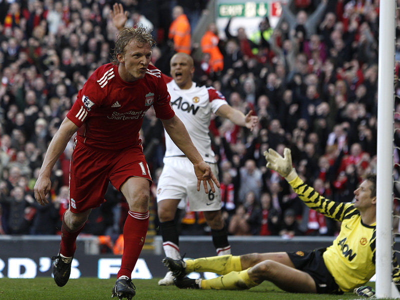Dirk Kuyt made a name for himself in scoring a hat-trick against Manchester United.