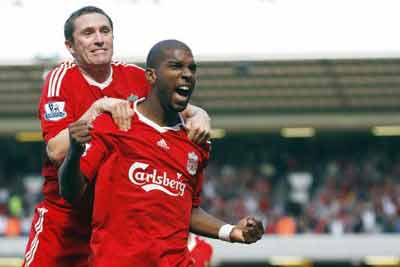 Ryan Babel came off the bench to score a late winner against Manchester United.