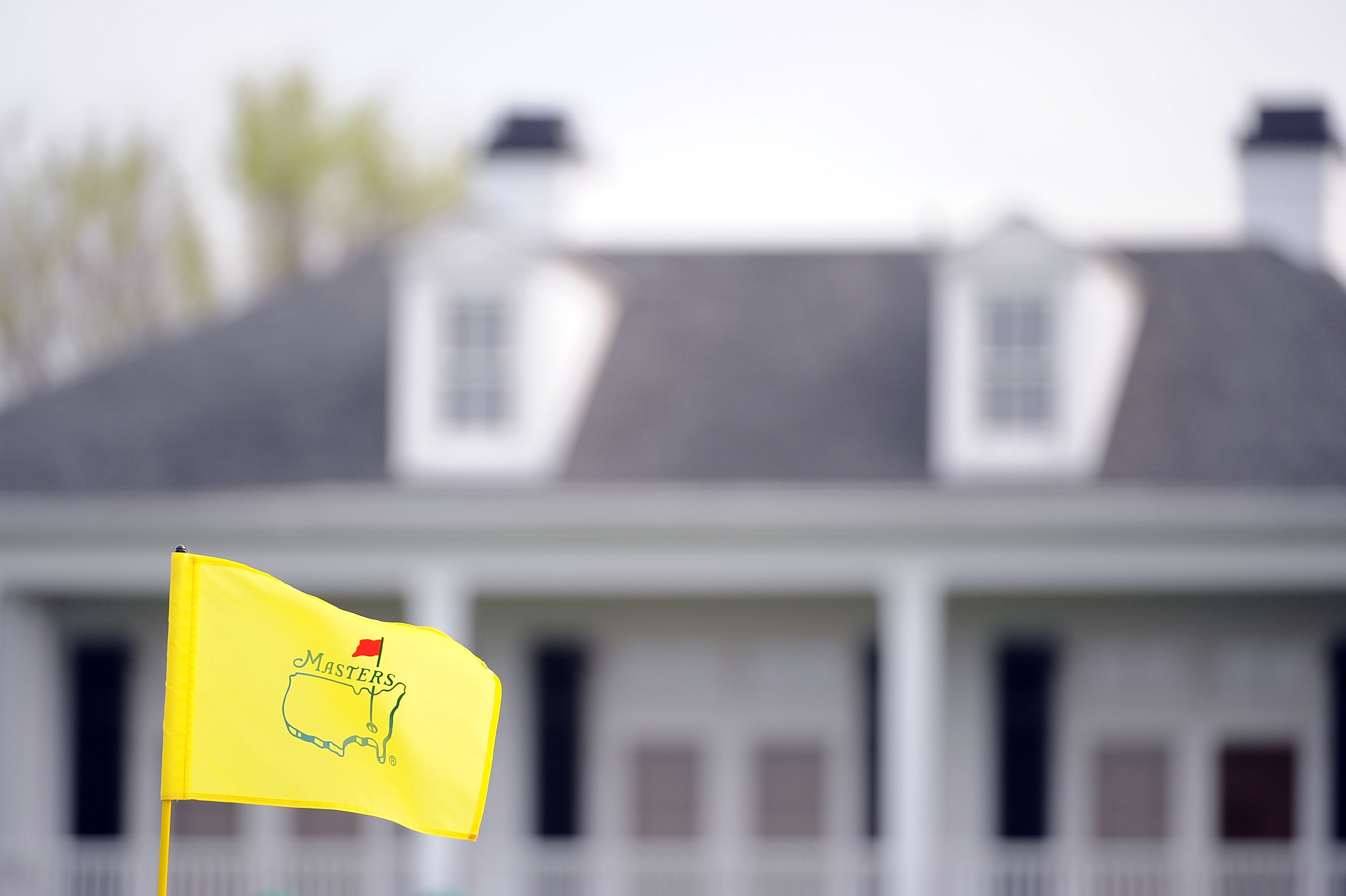 AUGUSTA, GA - APRIL 06:  A flag waves in front of the clubhouse during a practice round prior to the 2009 Masters Tournament at Augusta National Golf Club on April 6, 2009 in Augusta, Georgia.  (Photo by Harry How/Getty Images)