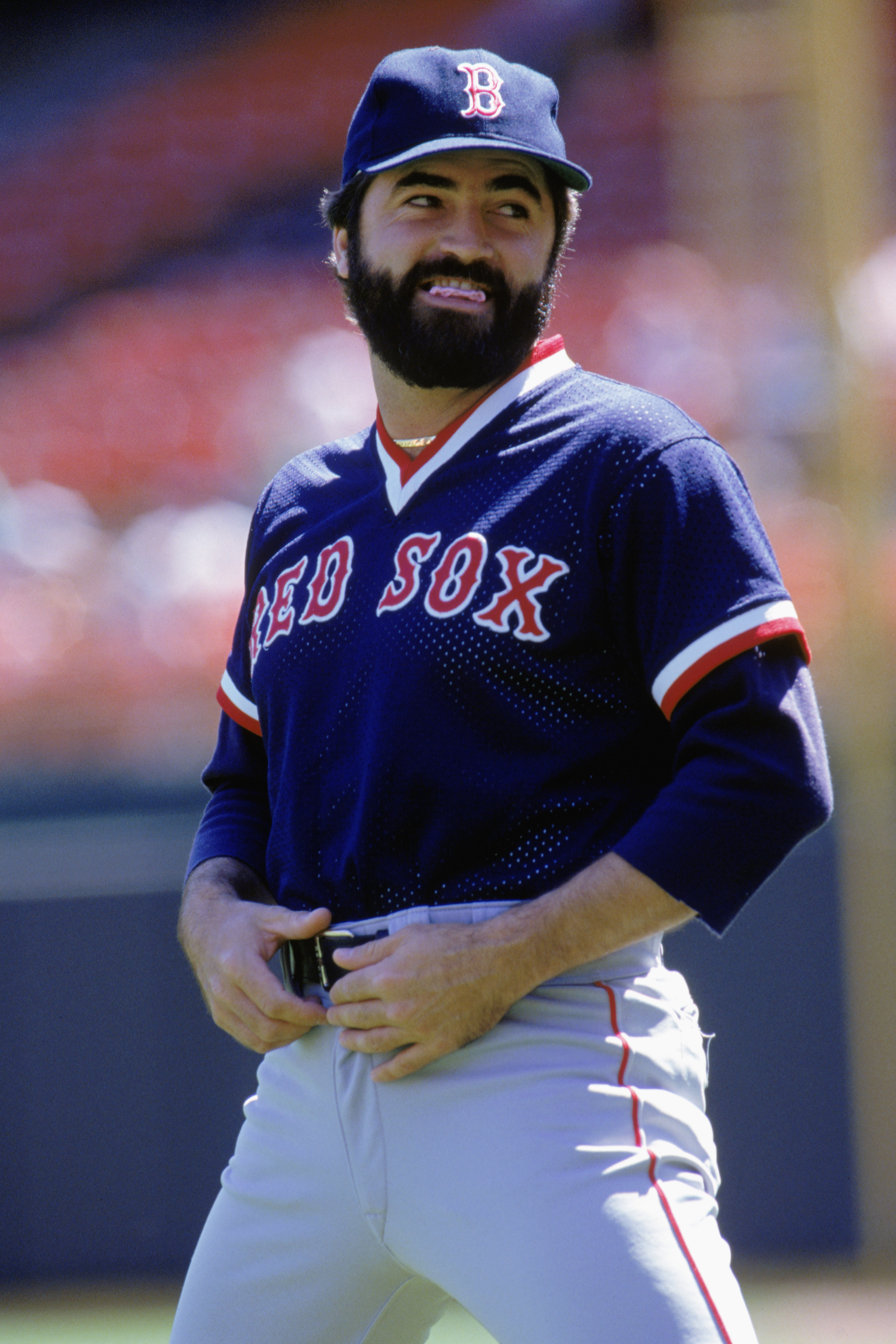 1990:  Jeff Reardon of the Boston Red Sox looks on during the 1990 season. (Photo by Otto Greule Jr/Getty Images)