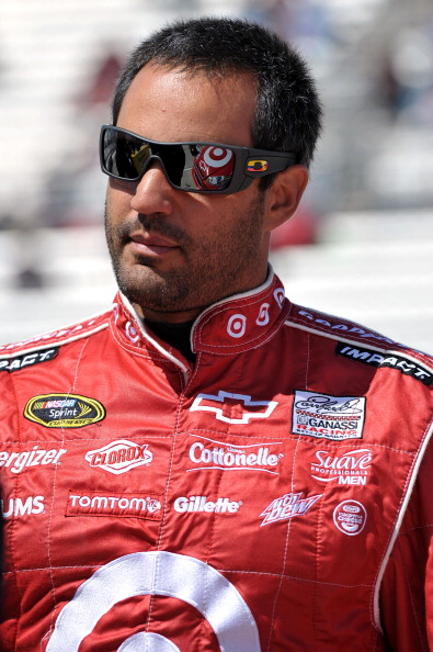 MARTINSVILLE, VA - APRIL 02:  Juan Pablo Montoya, driver of the #42 Target Chevrolet, stands on the grid during qualifying for the NASCAR Sprint Cup Series Goody's Fast Relief 500 at Martinsville Speedway on April 2, 2011 in Martinsville, Virginia.  (Phot