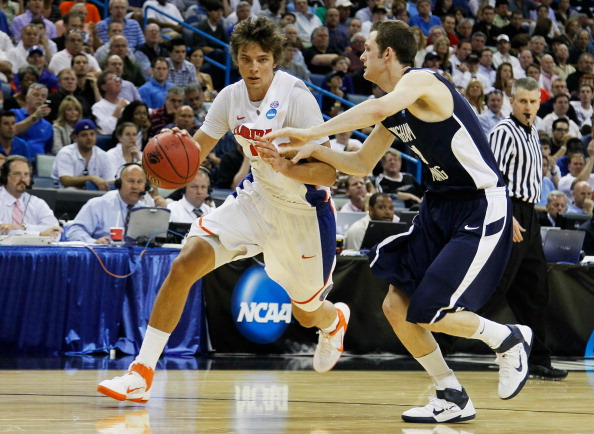 NEW ORLEANS, LA - MARCH 24:  Chandler Parsons #25 of the Florida Gators drives against the Brigham Young Cougars during the Southeast regional of the 2011 NCAA men's basketball tournament at New Orleans Arena on March 24, 2011 in New Orleans, Louisiana.