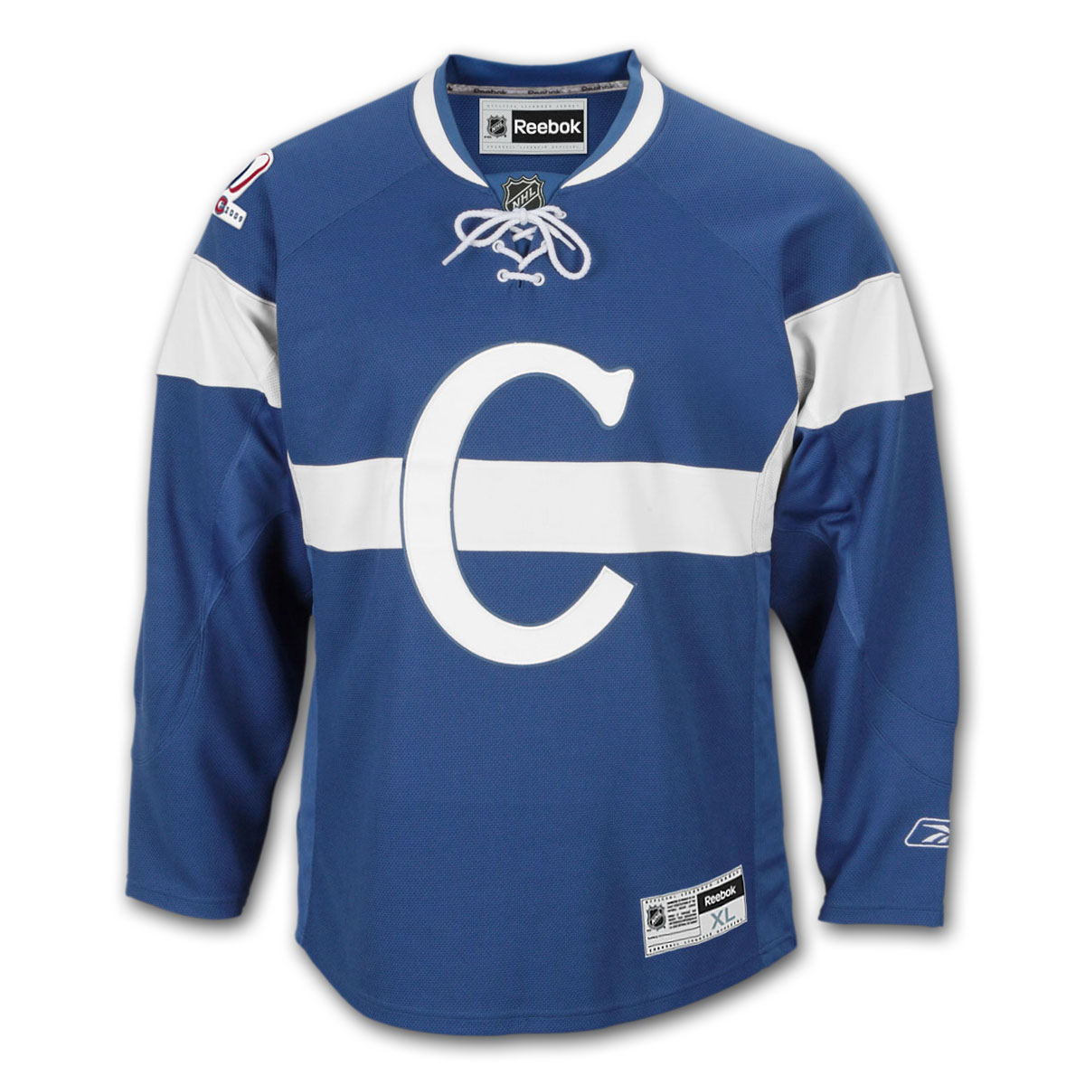 photo courtesy http://reviews.icejerseys.com/product-reviews/NHL-East/Habs-Centennial/Jerseys/Reebok/p/9194-Montreal-Canadiens-Reebok-Premier-Replica-Centennial-1909-10-NHL-Hockey-Jersey.html