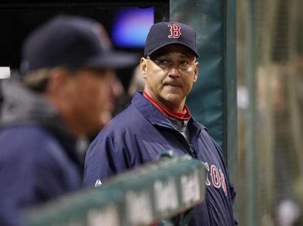 CLEVELAND - APRIL 05: Boston Red Sox manager Terry Francona #47 watches the action during the game against the Cleveland Indians at Progressive Field on April 5, 2011 in Cleveland, Ohio. The Indians defeated the Red Sox 3-1.   (Photo by Leon Halip/Getty I