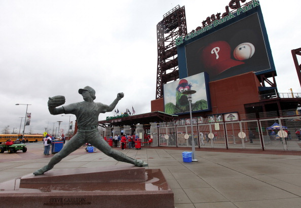 PHILADELPHIA, PA - APRIL 01: The outside of Citizens Bank Park during opening day at between the Philadelphia Phillies and the Houston Astros on April 1, 2011 in Philadelphia, Pennsylvania.  (Photo by Rob Carr/Getty Images)