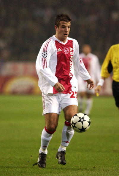AMSTERDAM - NOVEMBER 12:  Rafael Van der Vaart of Ajax in action during the UEFA Champions League First Phase Group D match between Ajax and Inter Milan on November 12, 2002 played at the Amsterdam Aren in Amsterdam, Holland. Inter Milan won the match 2-1
