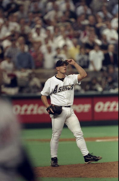 1 Oct 1998:  Pitcher Billy Wagner #13 of the Houston Astros in action during the National League Division Playoff Series Game 2 against the San Diego Padres at The Astrodome in Houston, Texas. The Astros defeated the Padres 5-4. Mandatory Credit: Stephen