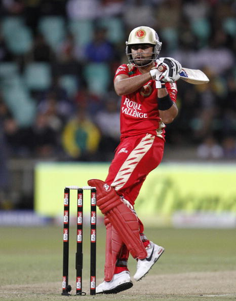 DURBAN, SOUTH AFRICA - SEPTEMBER 24,  Virat Kohli during the Airtel Champions League Twenty20 semifinal match between Chennai Super Kings and Royal Challengers Bangalore at Sahara Stadium Kingsmead on September 24, 2010 in Durban, South Africa.   (Photo b