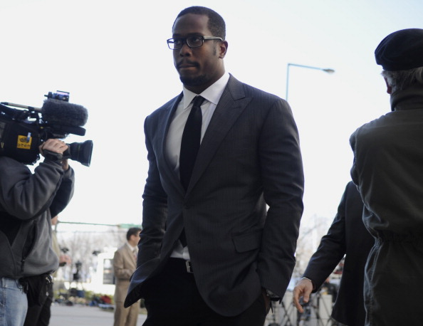 SAINT PAUL, MN - APRIL 6: Linebacker Von Miller of Texas A&M, who is entered in this year's NFL draft, arrives for a hearing at the U.S. Courthouse on April 6, 2011 in Saint Paul, Minnesota. NFL players have filed an antitrust lawsuit against the NFL owne