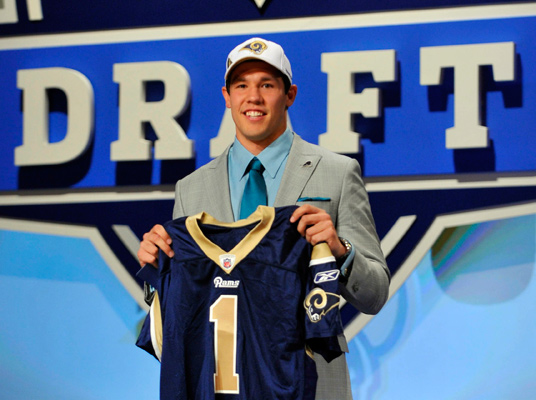 Sam Bradford picked first overall in 2010